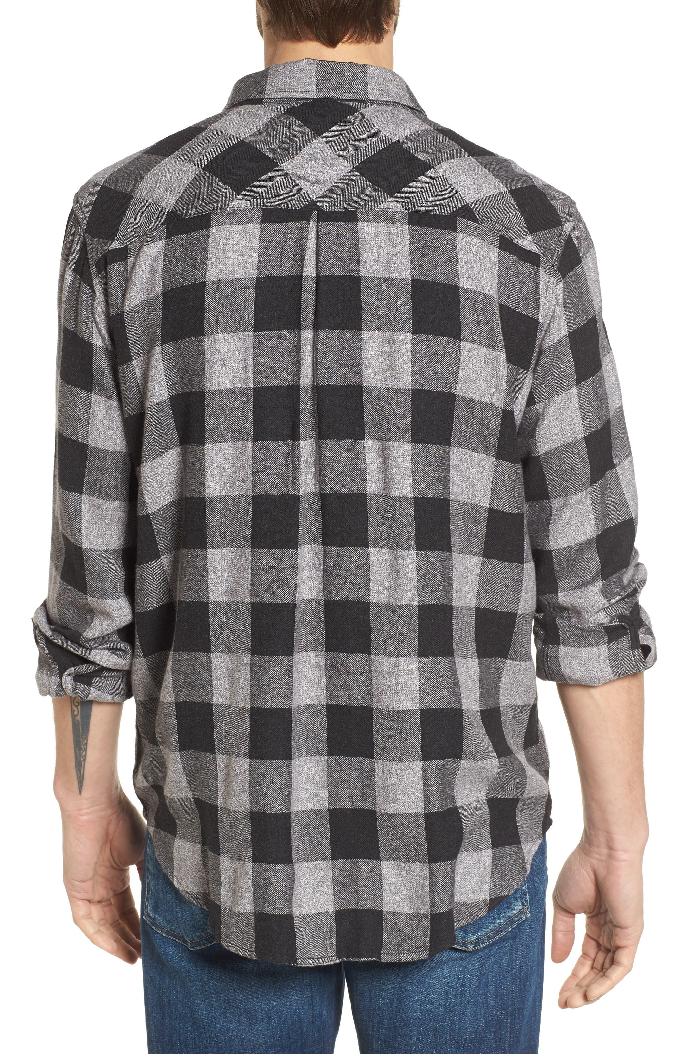 Lennox Sport Shirt,                             Alternate thumbnail 2, color,                             CHARCOAL/ BLACK CHECK