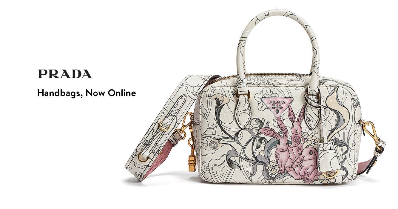 Prada handbags available online.