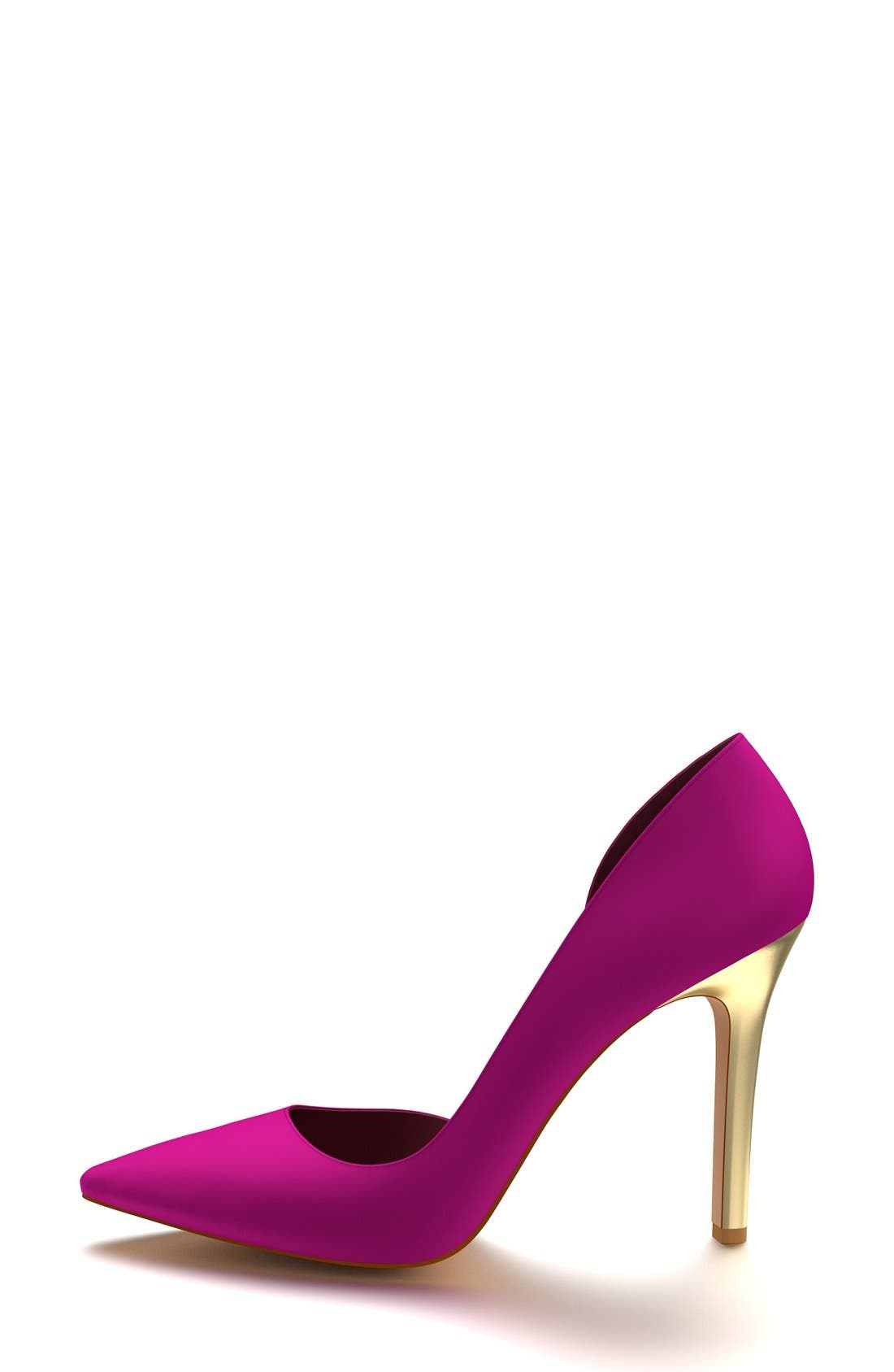 Pointy Toe Half d'Orsay Pump,                             Alternate thumbnail 4, color,