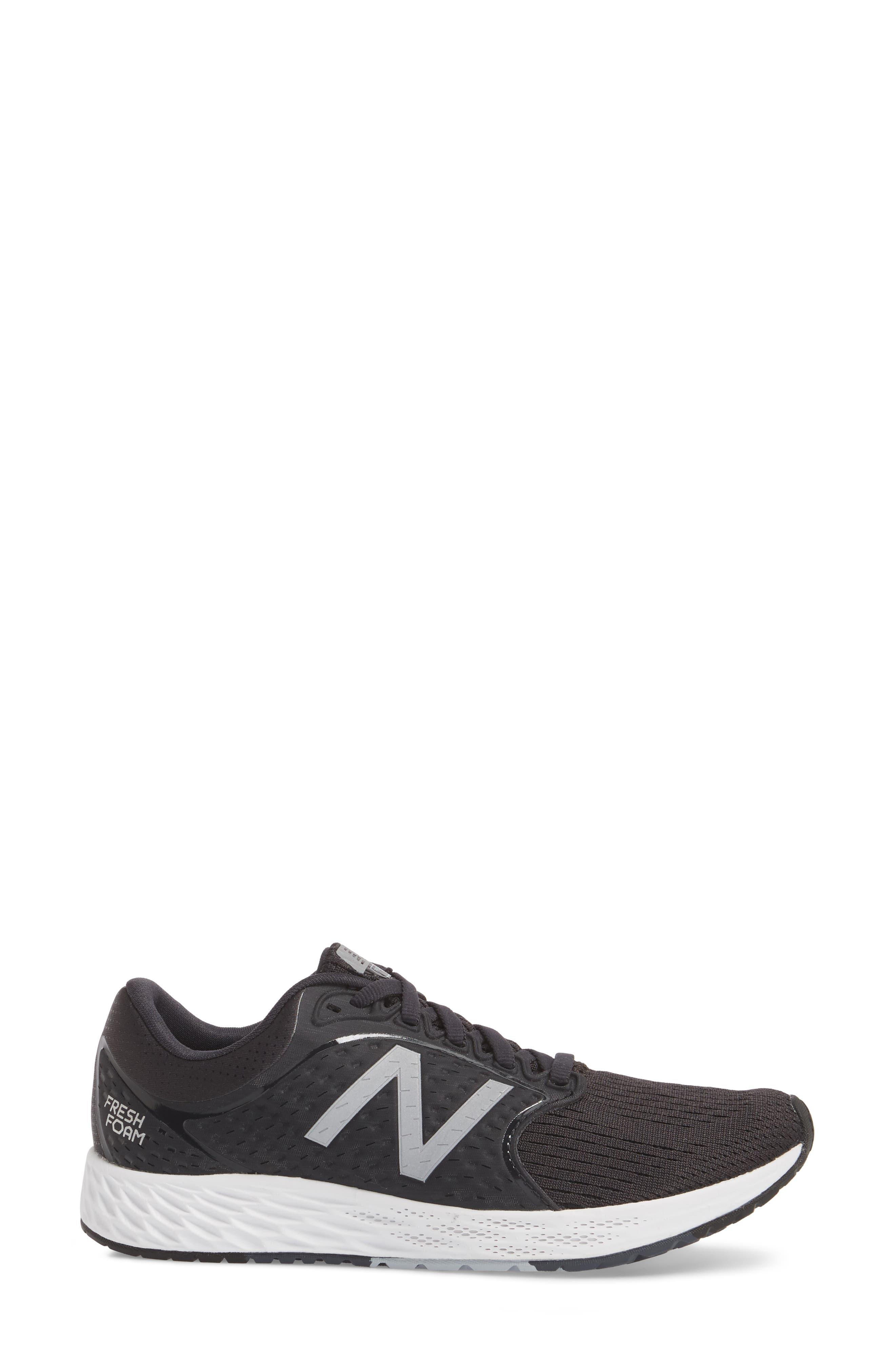 Fresh Foam Zante v4 Running Shoe,                             Alternate thumbnail 3, color,                             001