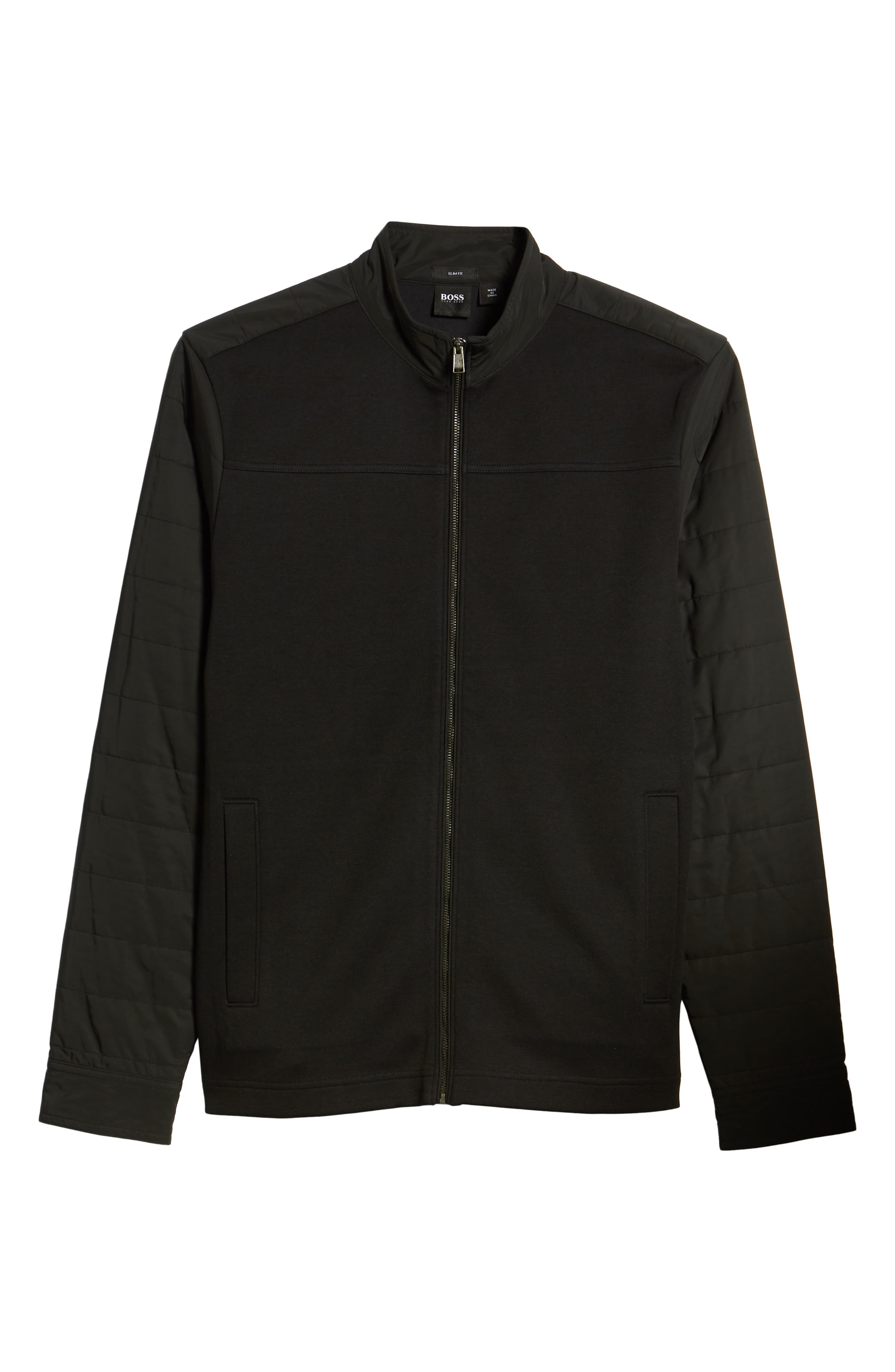 Soule Slim Fit Moto Jacket,                             Alternate thumbnail 7, color,                             BLACK