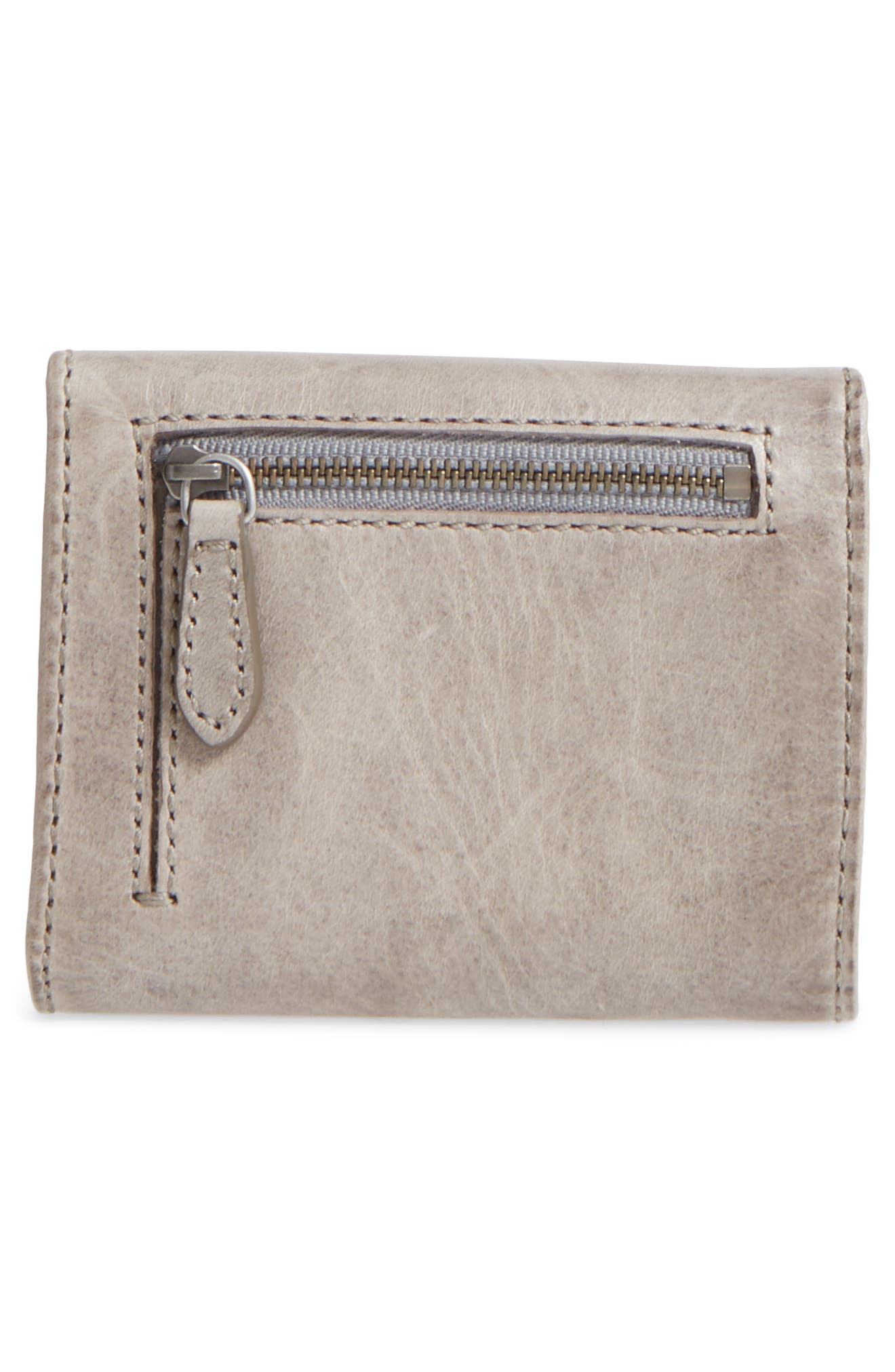 FRYE,                             Melissa Medium Trifold Leather Wallet,                             Alternate thumbnail 4, color,                             020