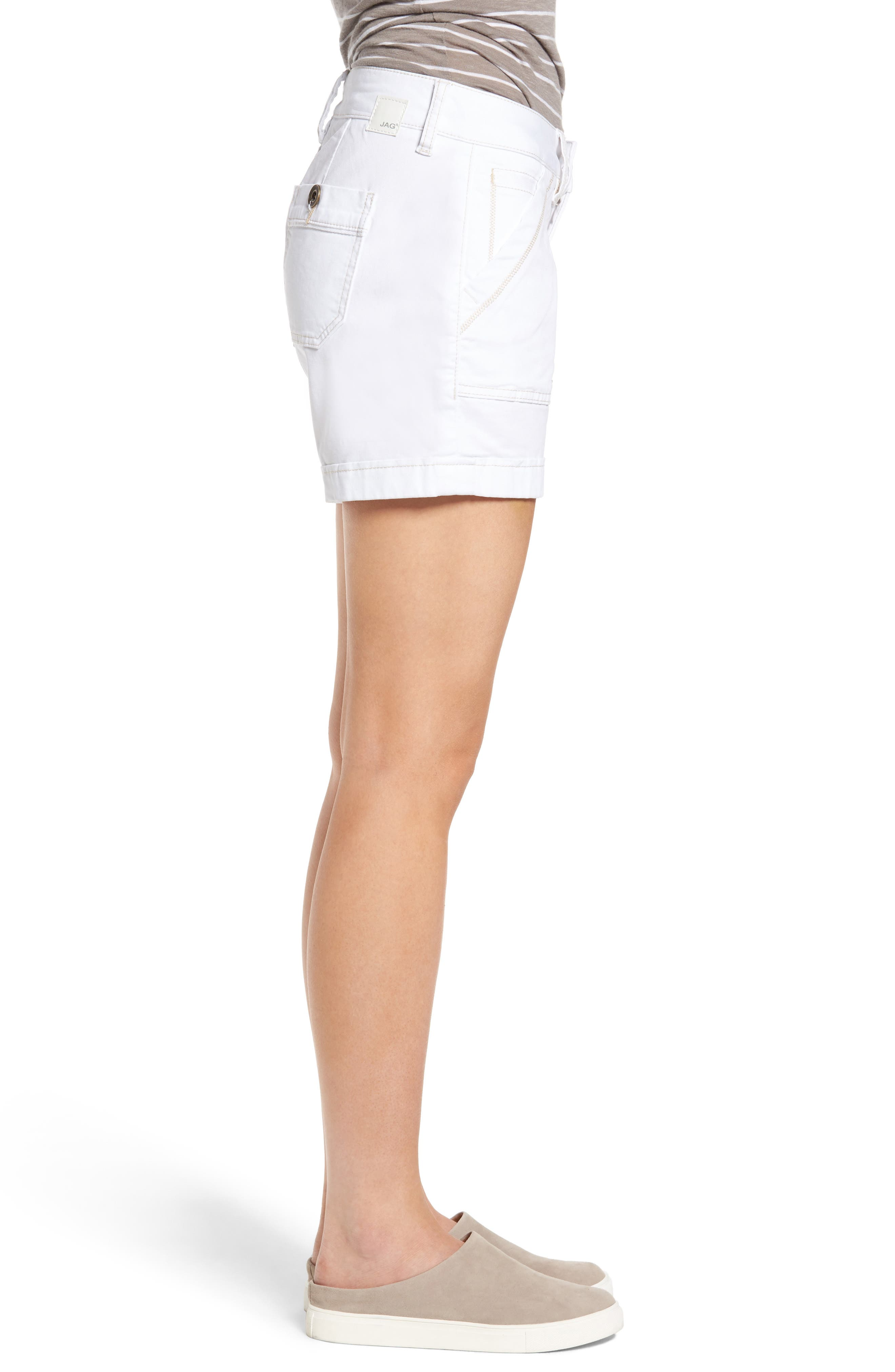 Izzy Twill Utility Shorts,                             Alternate thumbnail 3, color,                             168