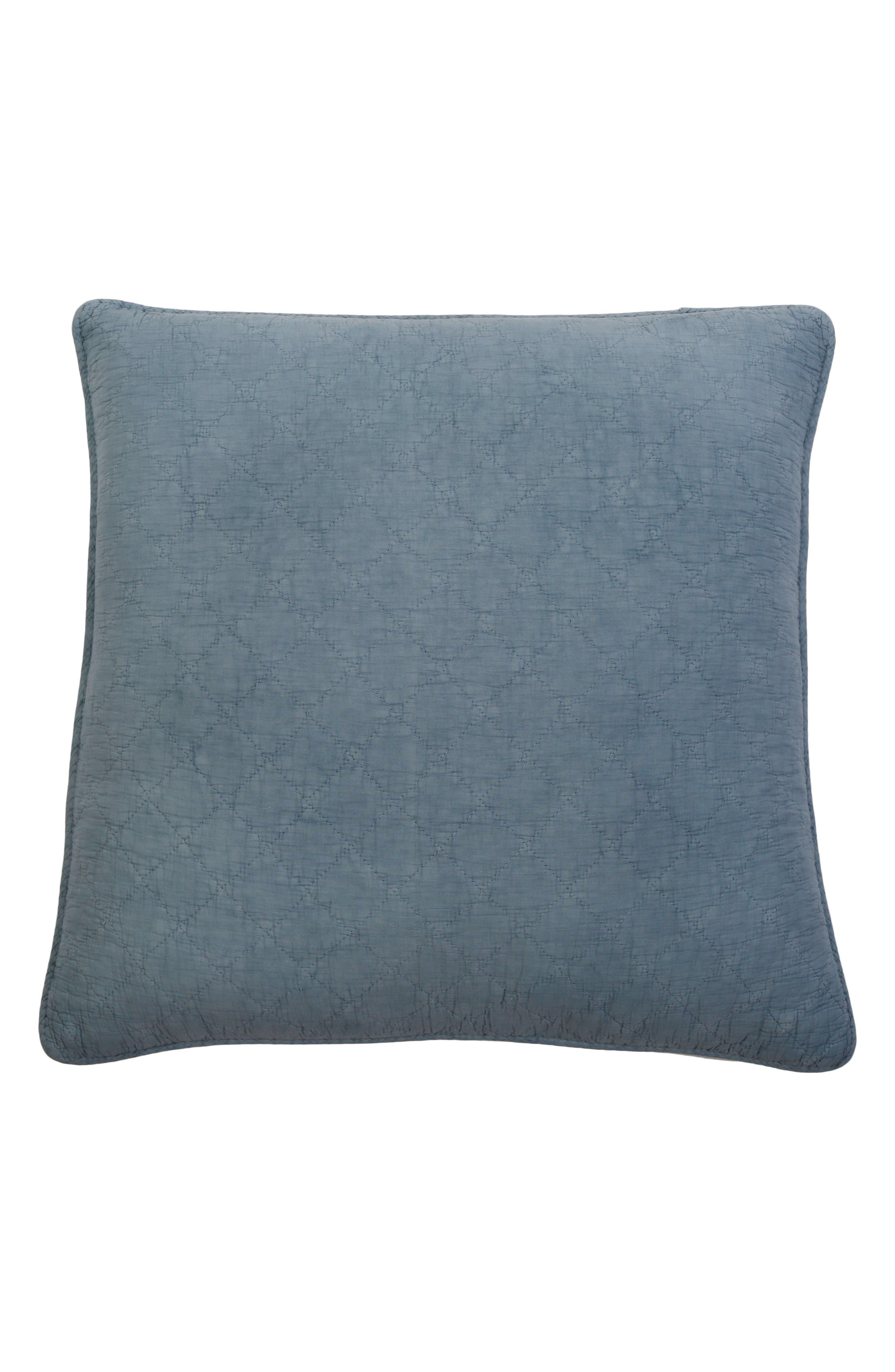 Huntington Euro Sham,                         Main,                         color, DUSTY BLUE