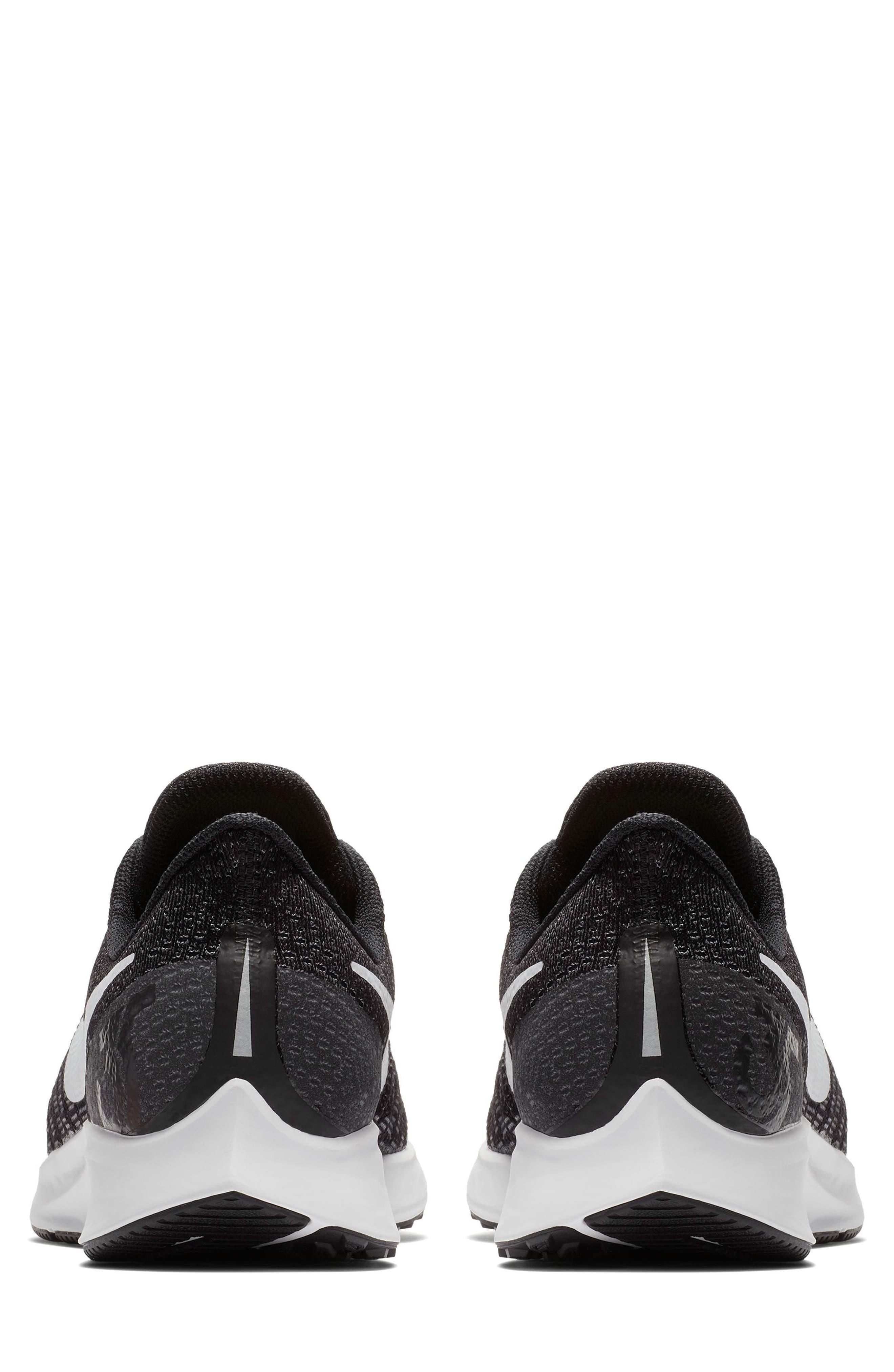 Air Zoom Pegasus 35 Running Shoe,                             Alternate thumbnail 5, color,                             BLACK/ WHITE/ BLACK