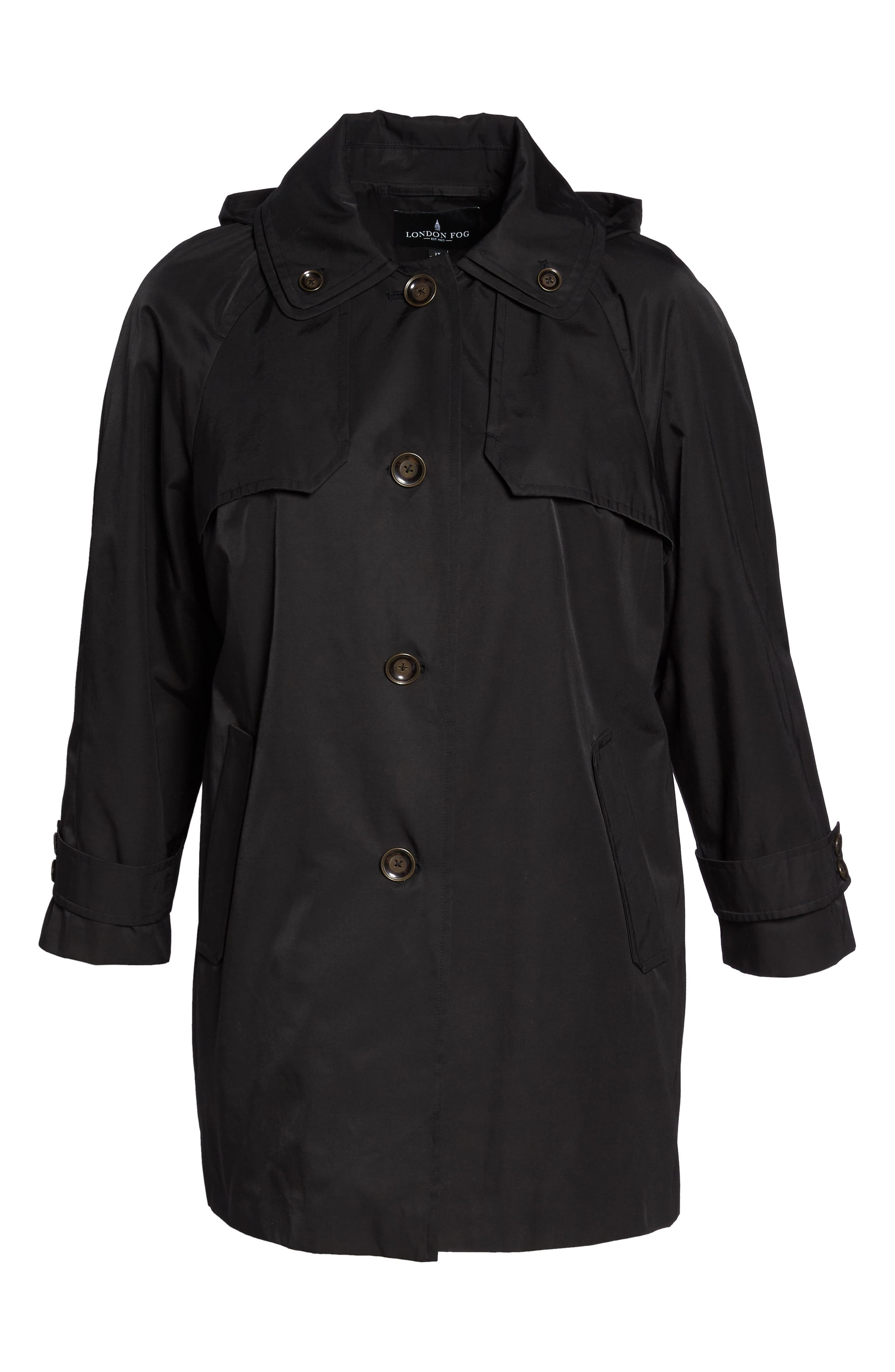 Removable Hood Rain Jacket,                             Alternate thumbnail 5, color,                             001