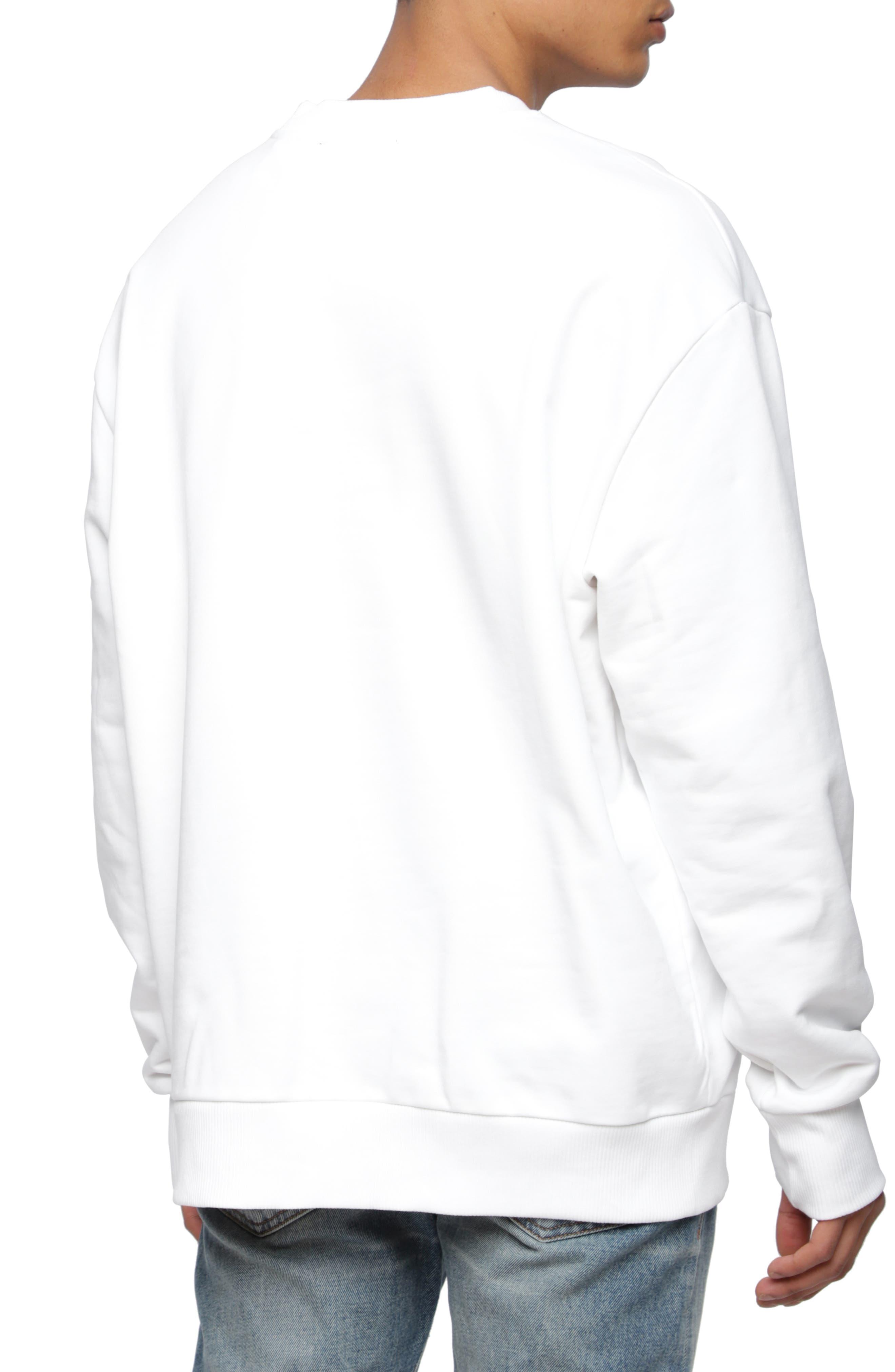 S-CREW-DIVISION Sweatshirt,                             Alternate thumbnail 2, color,                             WHITE