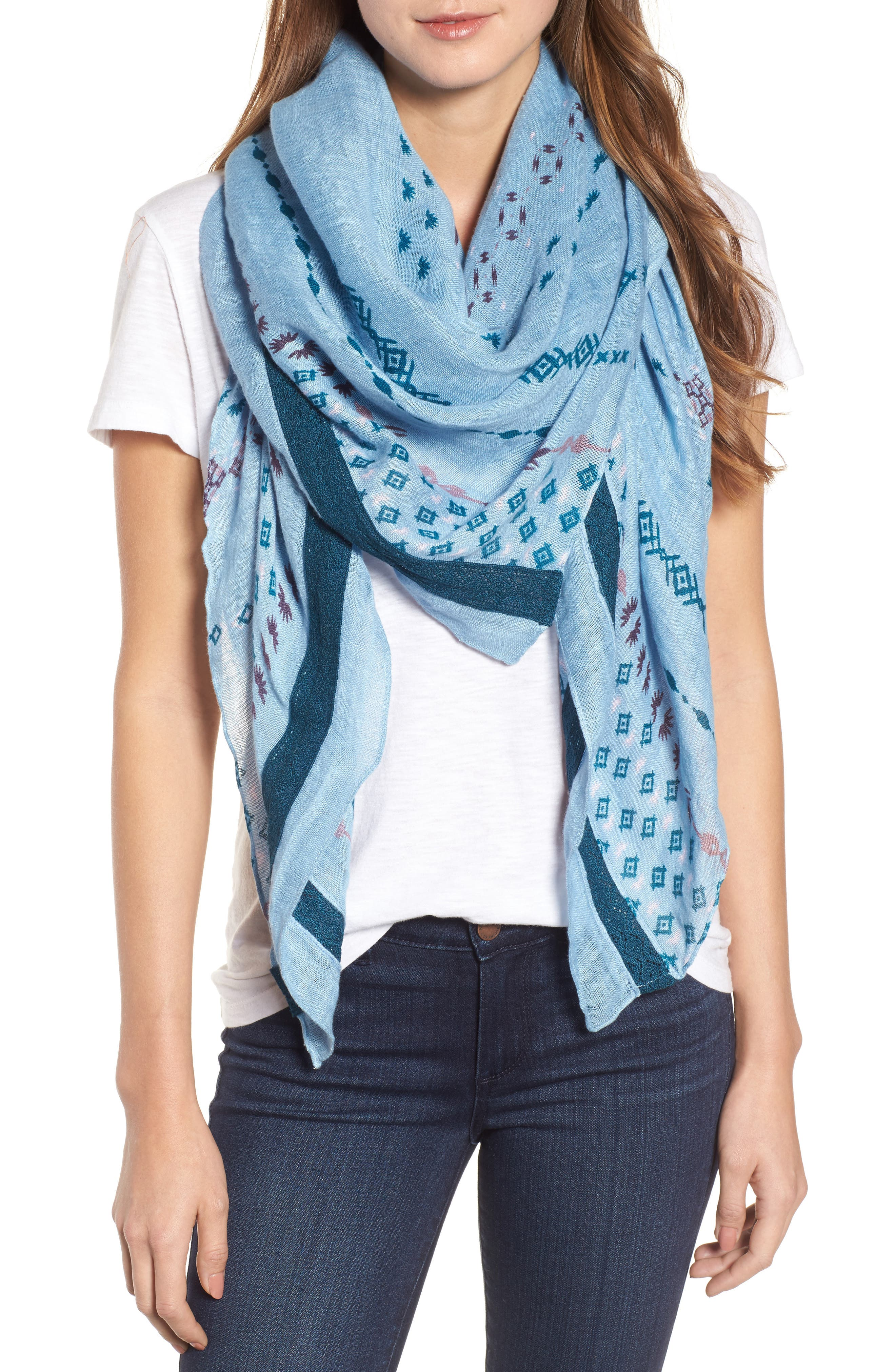 Mixed Print Scarf,                             Main thumbnail 1, color,                             420