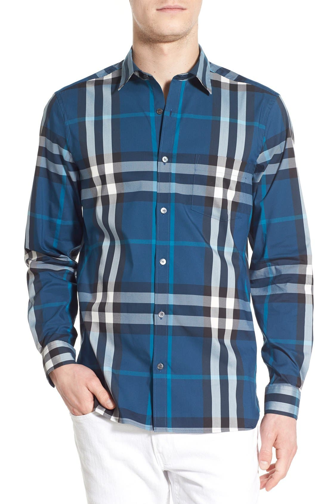 Nelson Check Sport Shirt,                             Main thumbnail 13, color,