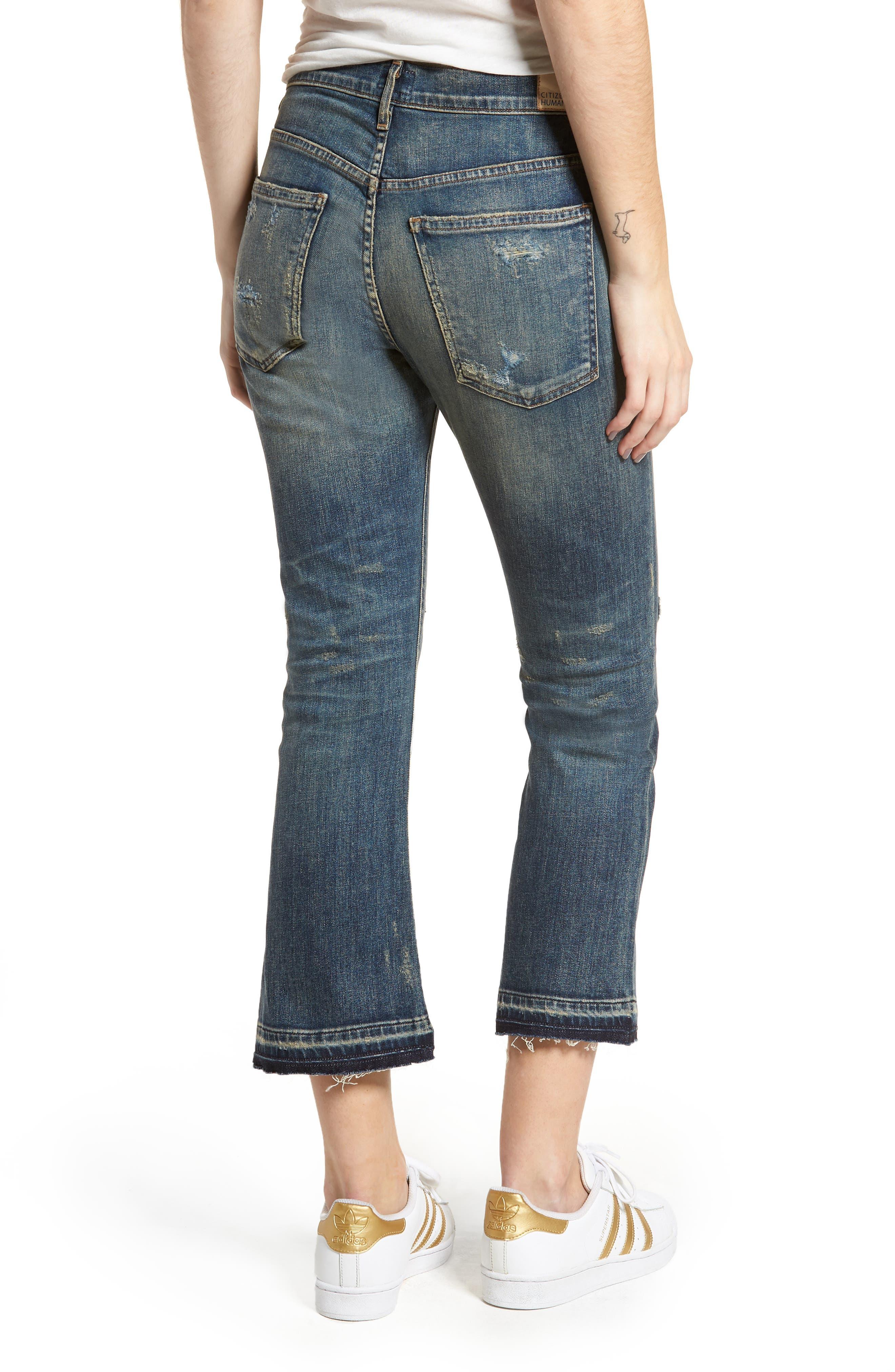 Drew Crop Flare Jeans,                             Alternate thumbnail 2, color,                             422