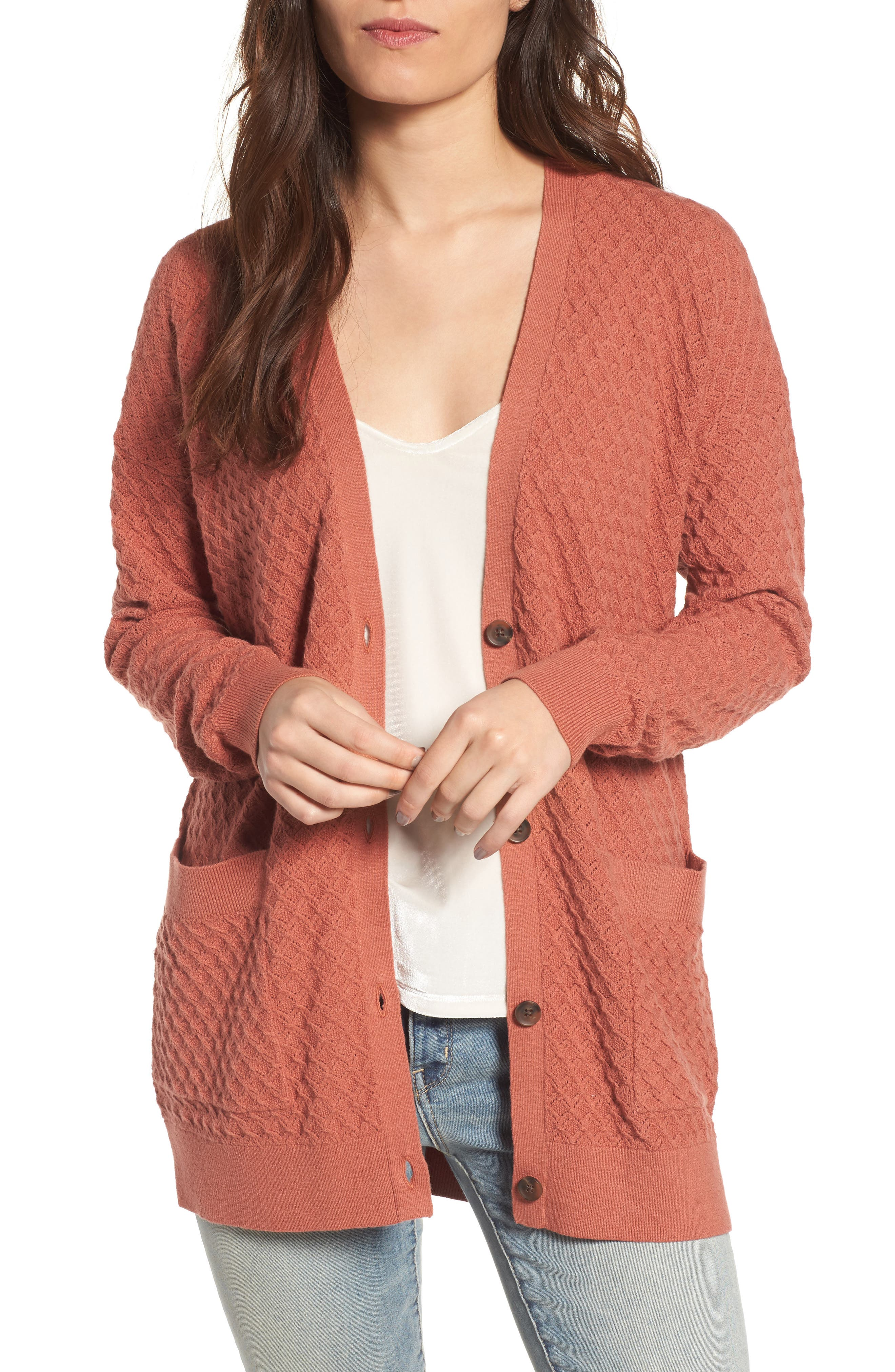 Pointelle Cardigan Sweater,                             Main thumbnail 4, color,