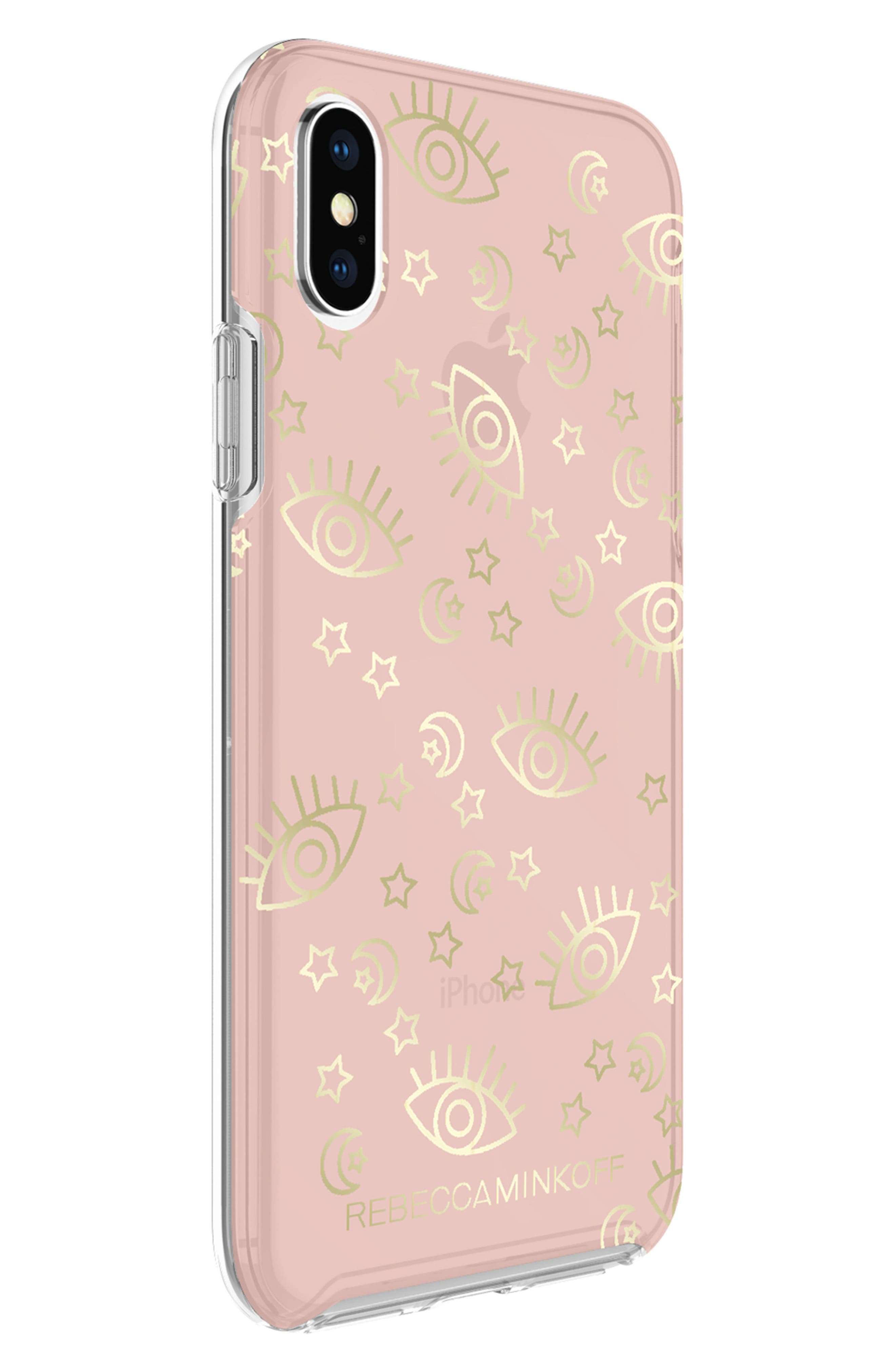 Metallic Galaxy Icon iPhone X/Xs Case,                             Alternate thumbnail 2, color,                             ROSE GOLD/ GOLD FOIL