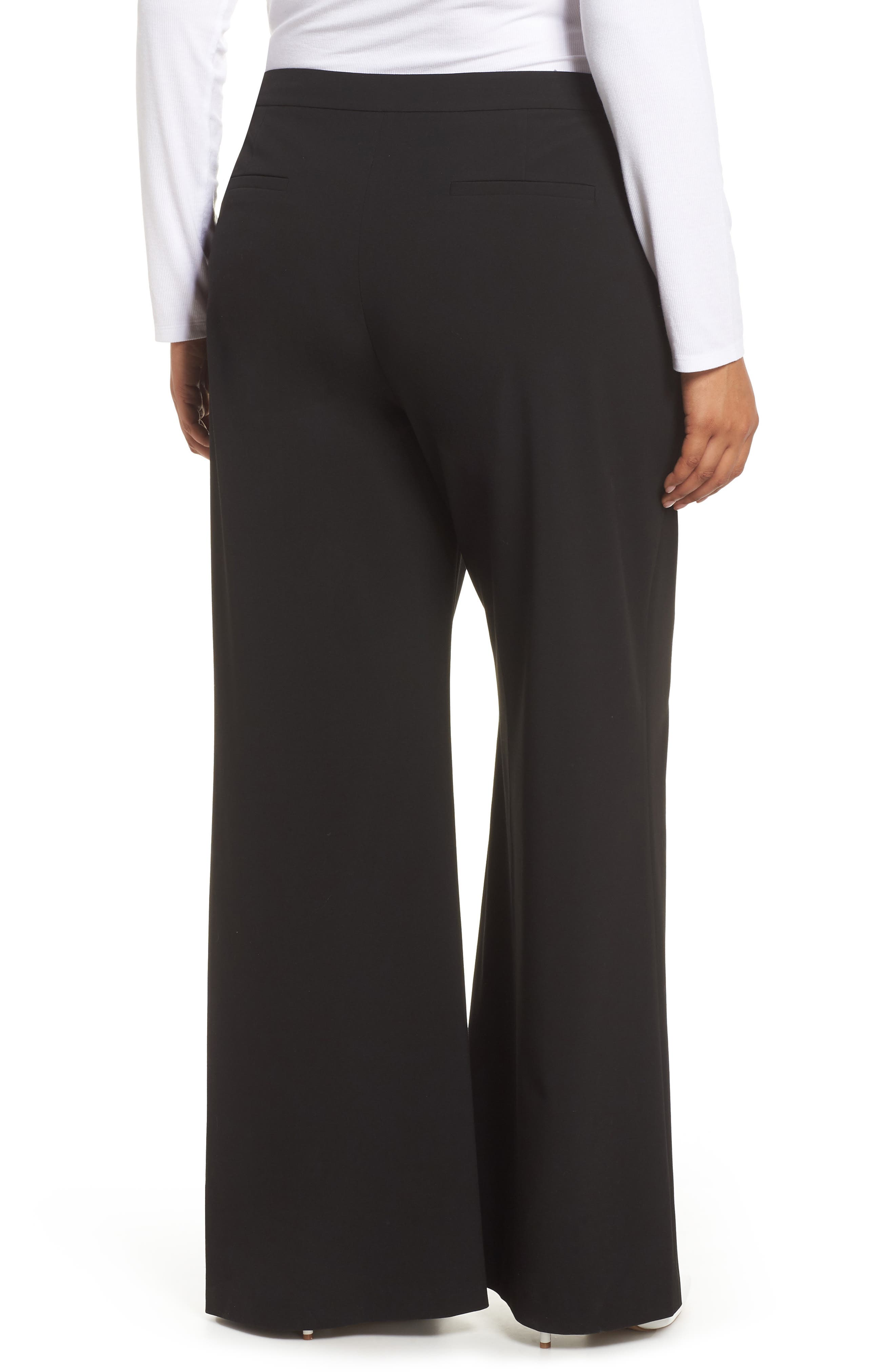 High Waist Wide Leg Pants,                             Alternate thumbnail 2, color,                             001