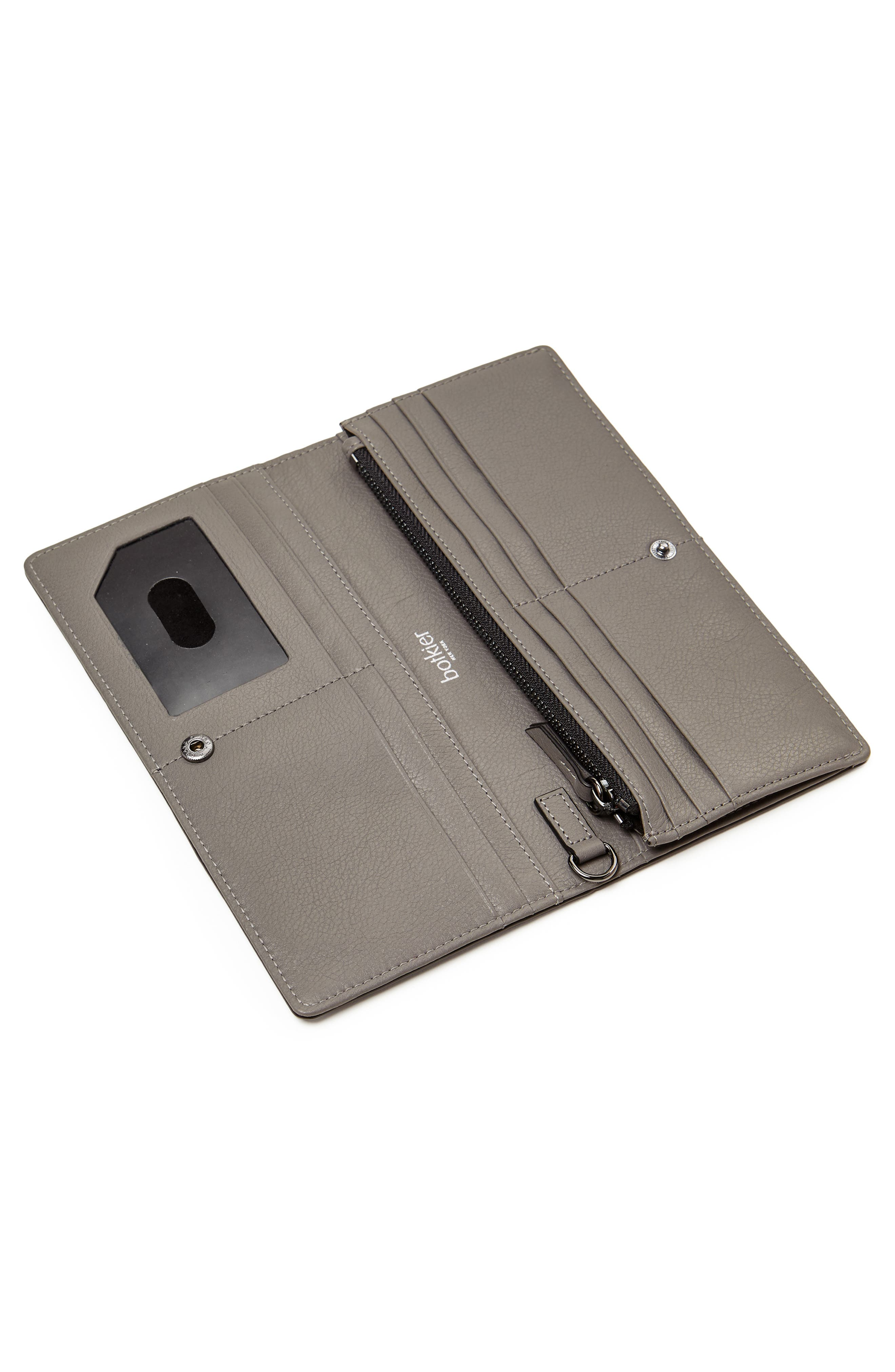 Moto Leather Continental Wallet,                             Alternate thumbnail 3, color,                             WINTER GREY