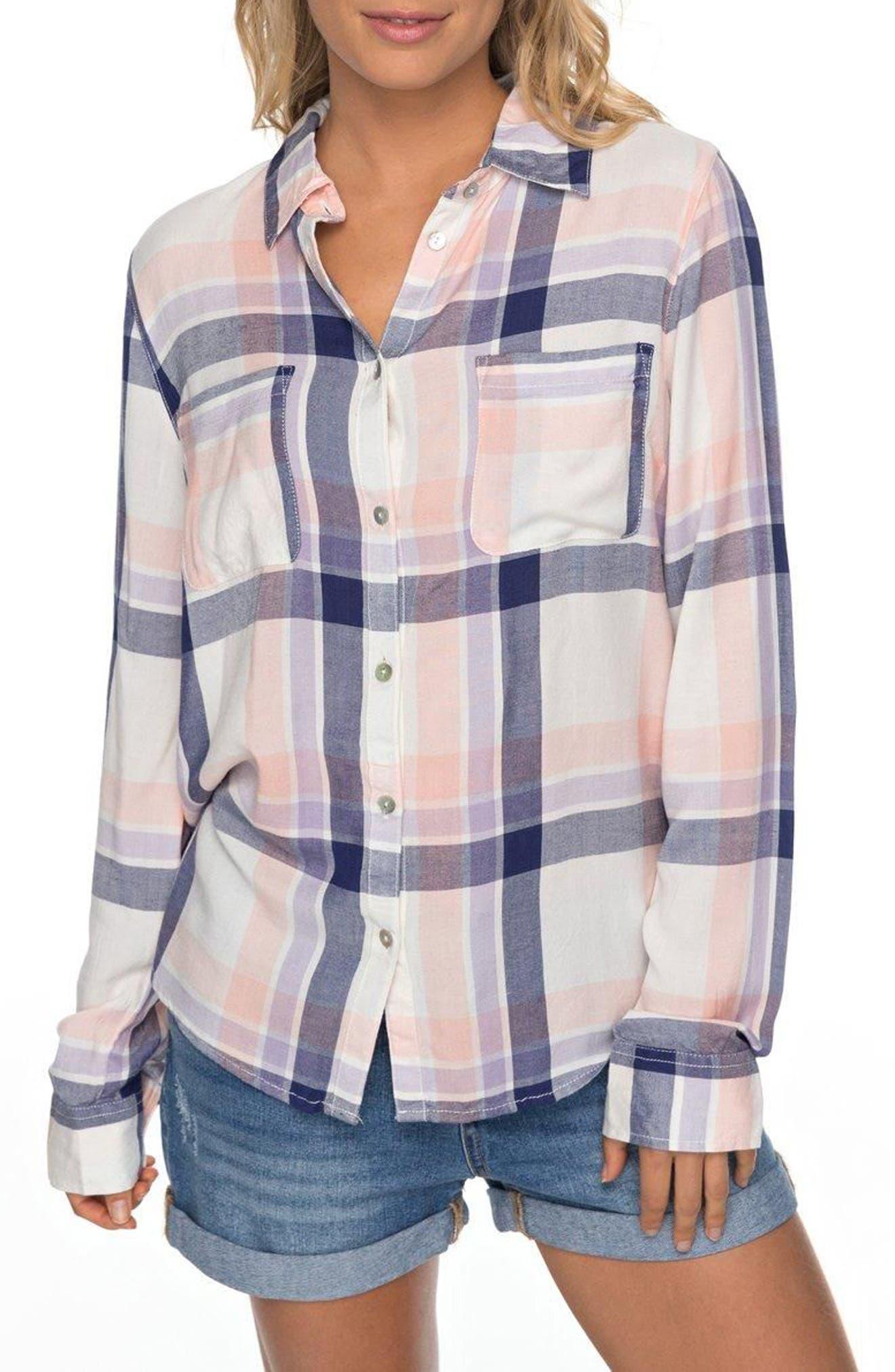 Setai Miami Plaid Shirt,                         Main,                         color, 101