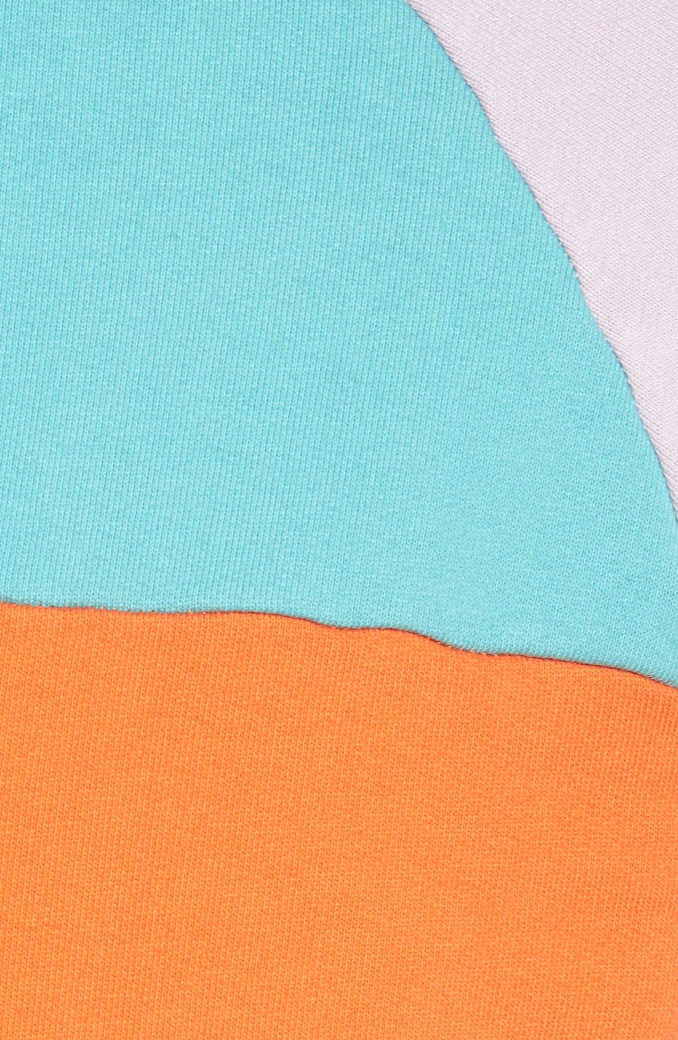 Summer Colorblock Hoodie Sweatshirt,                             Alternate thumbnail 5, color,                             100