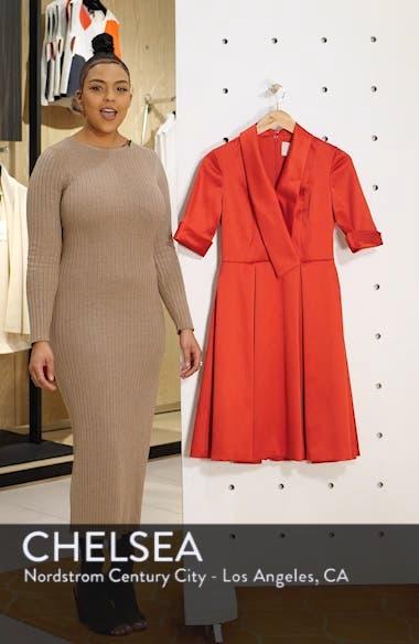 Ruby Royal Satin Asymmetrical Collar Dress, sales video thumbnail