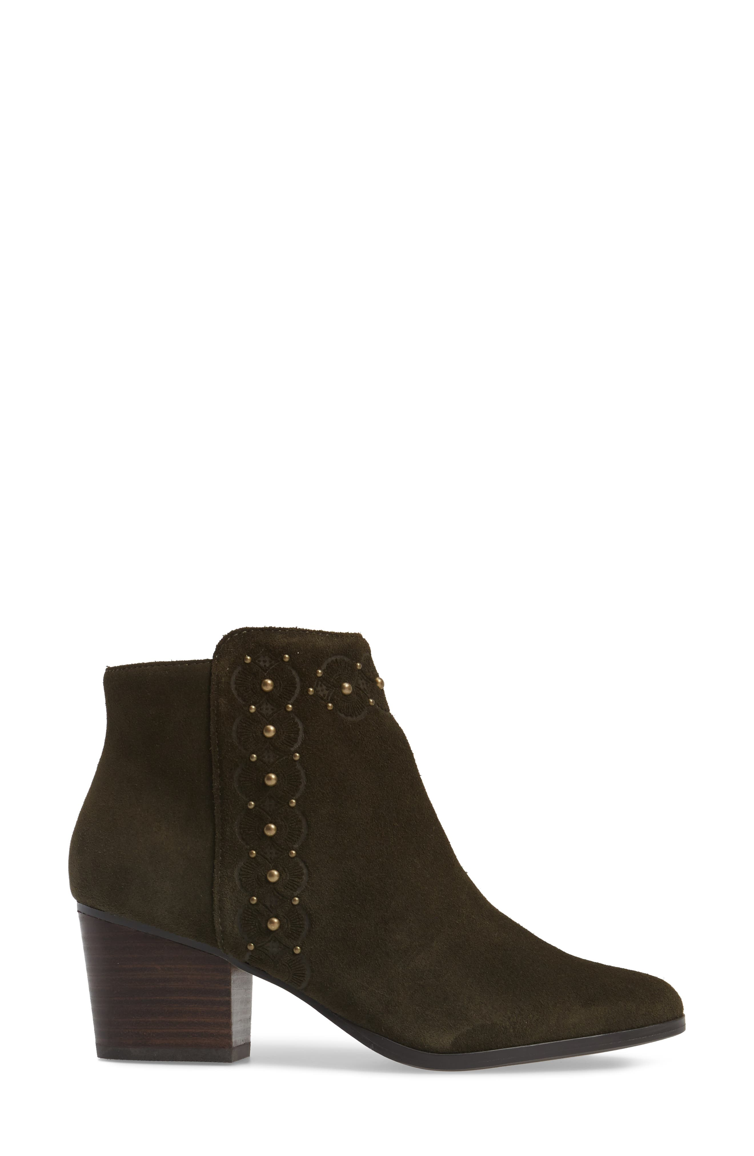 Gala Studded Embossed Bootie,                             Alternate thumbnail 9, color,