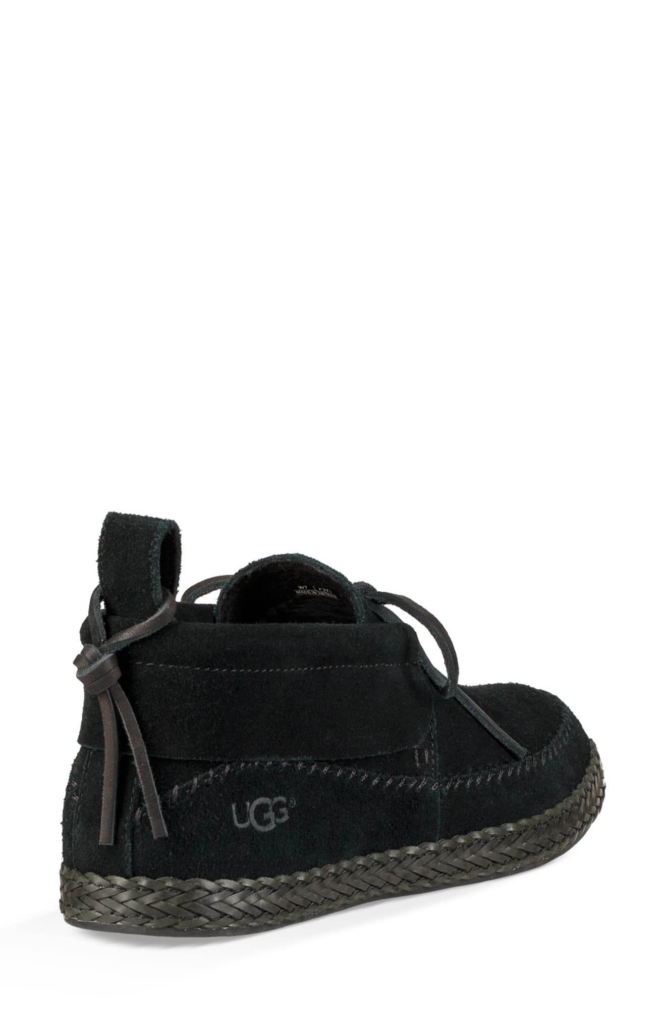 Woodlyn Moc Toe Bootie,                             Alternate thumbnail 2, color,                             BLACK LEATHER