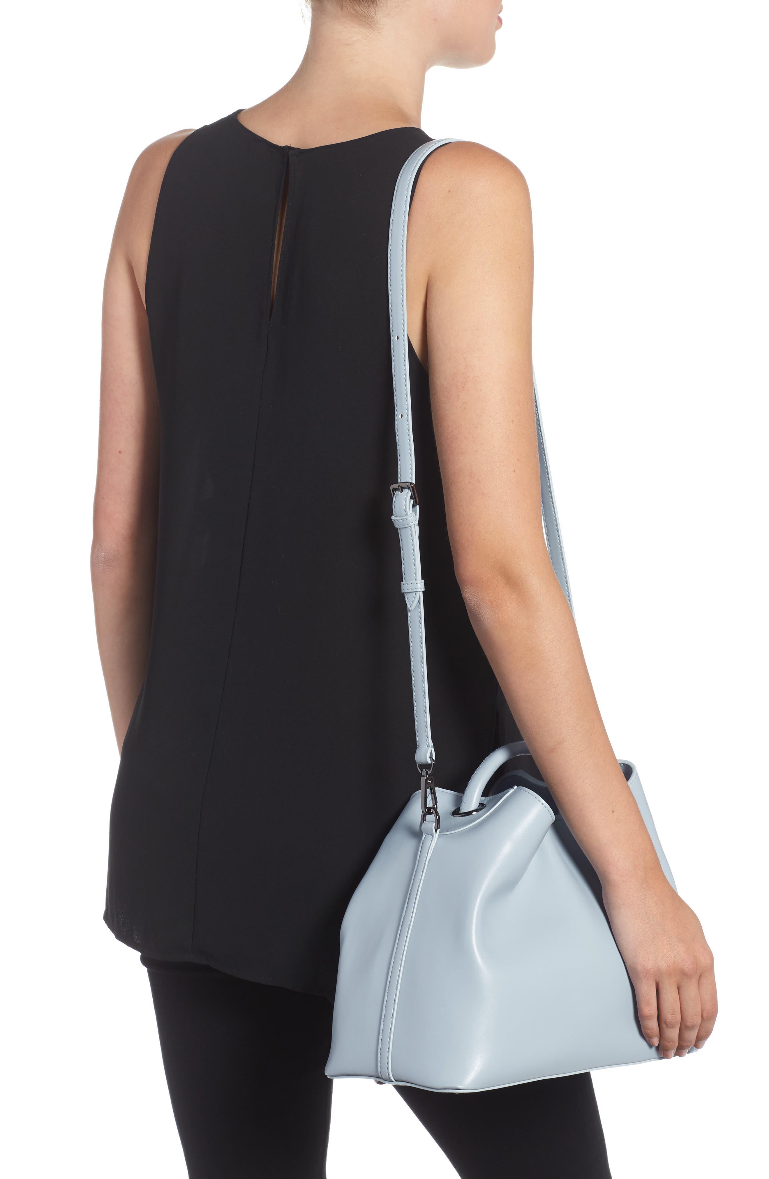 Raisin Leather Handbag,                             Alternate thumbnail 13, color,