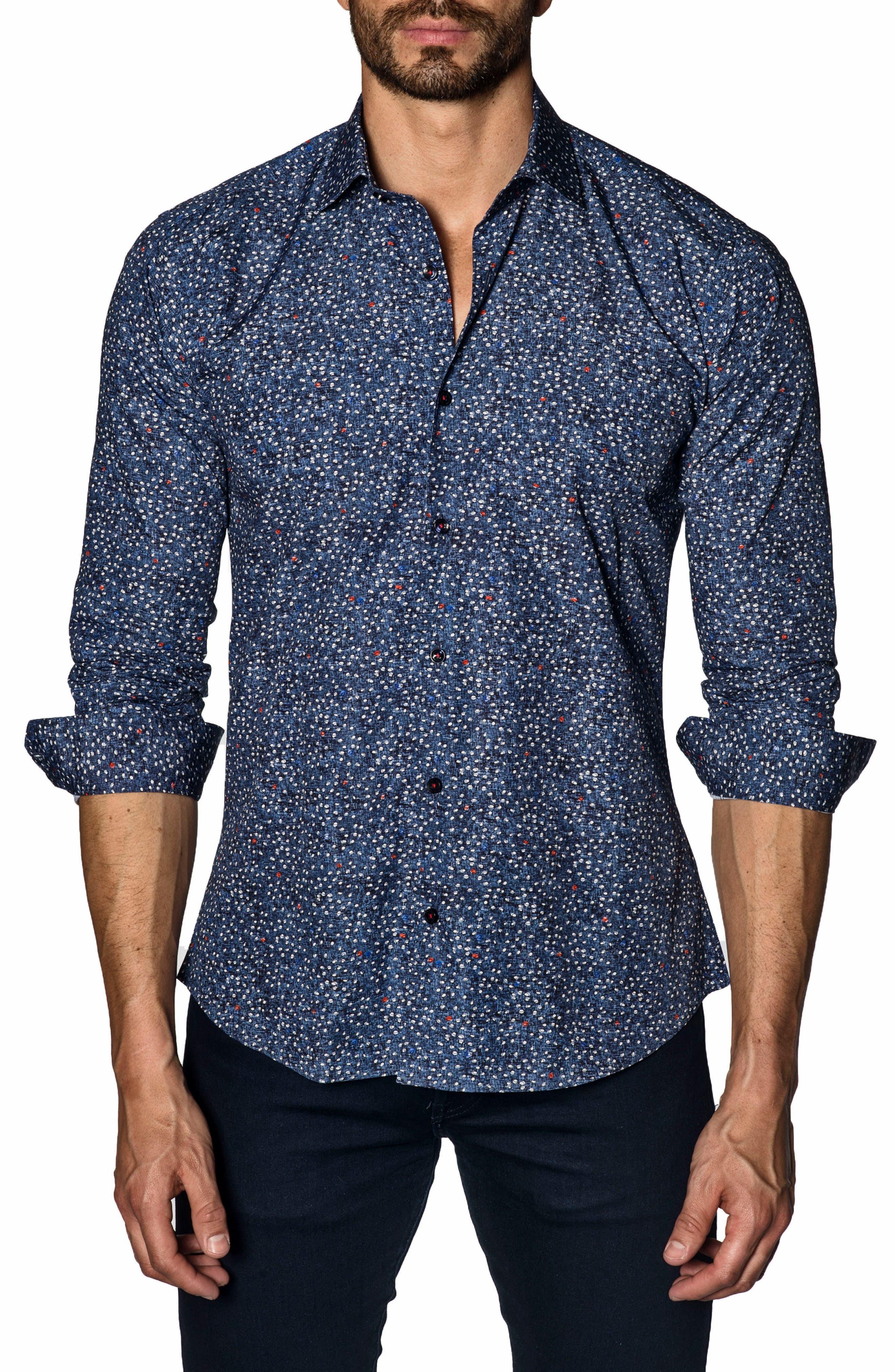 Trim Fit Sport Shirt,                         Main,                         color, 480