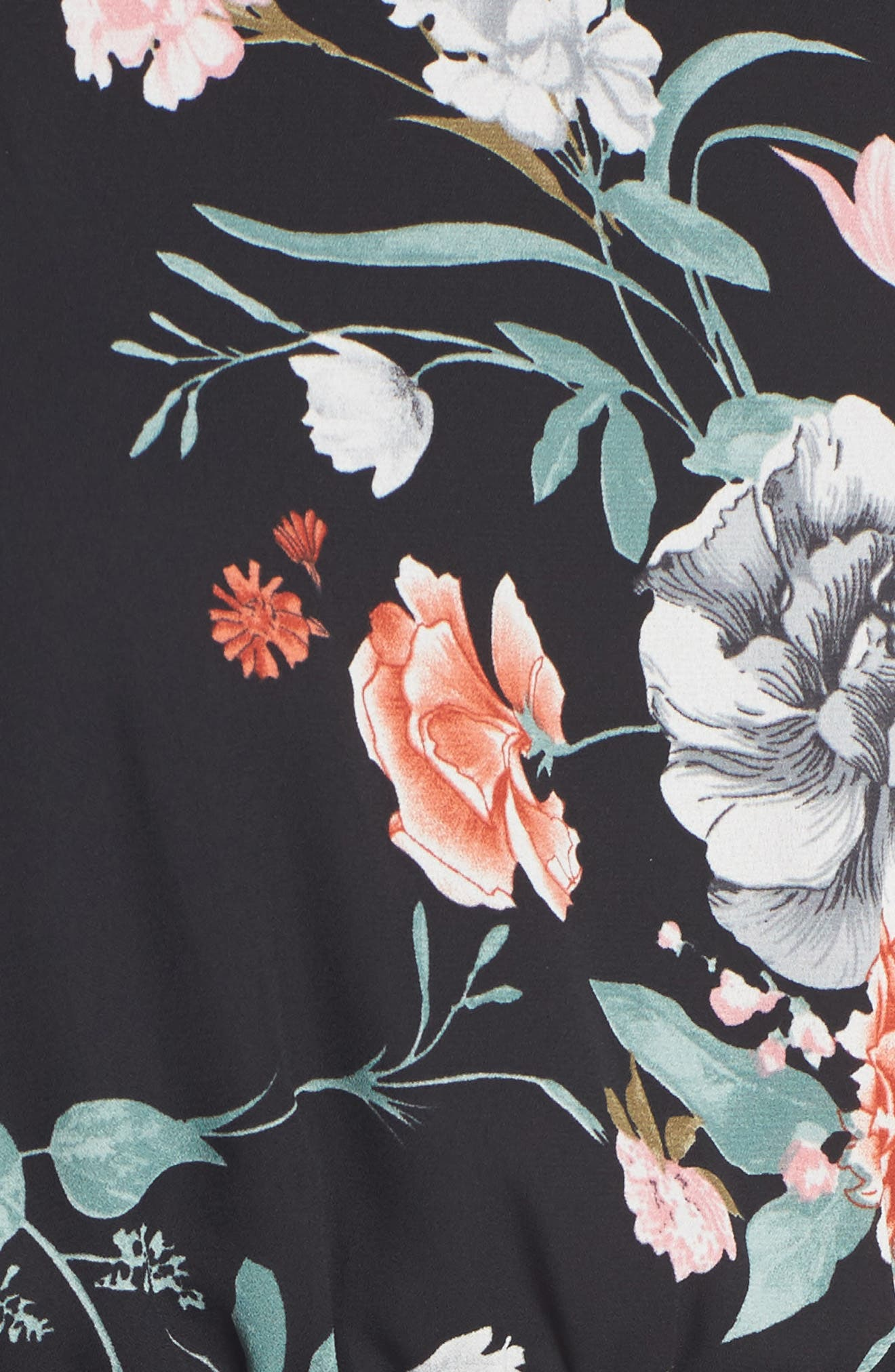 Back Tie Blouson Dress,                             Alternate thumbnail 5, color,                             001