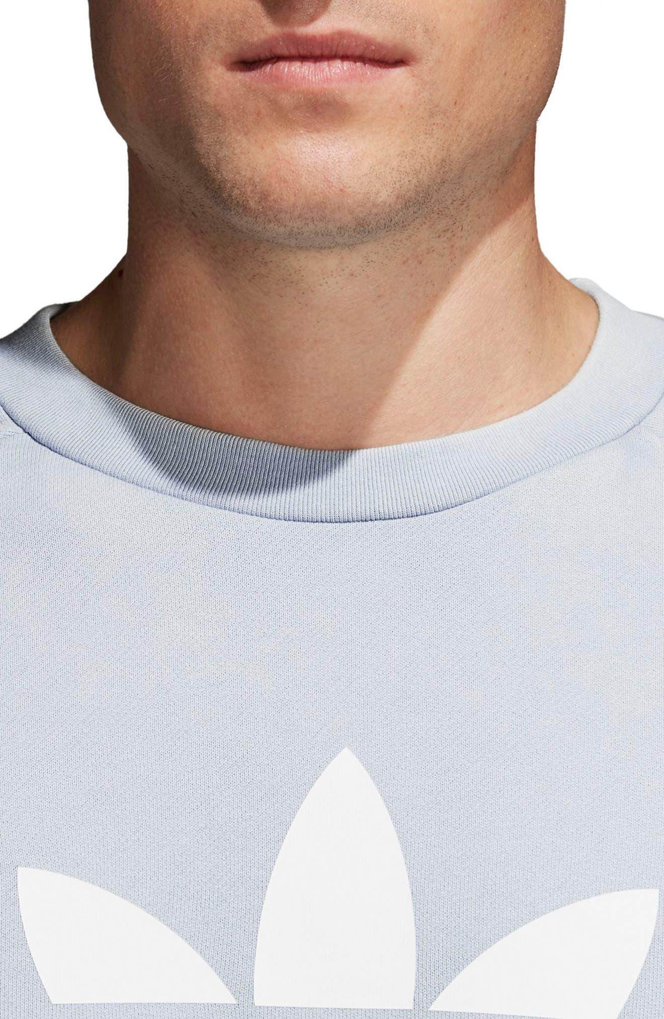 Trefoil Sweatshirt,                             Alternate thumbnail 4, color,                             459