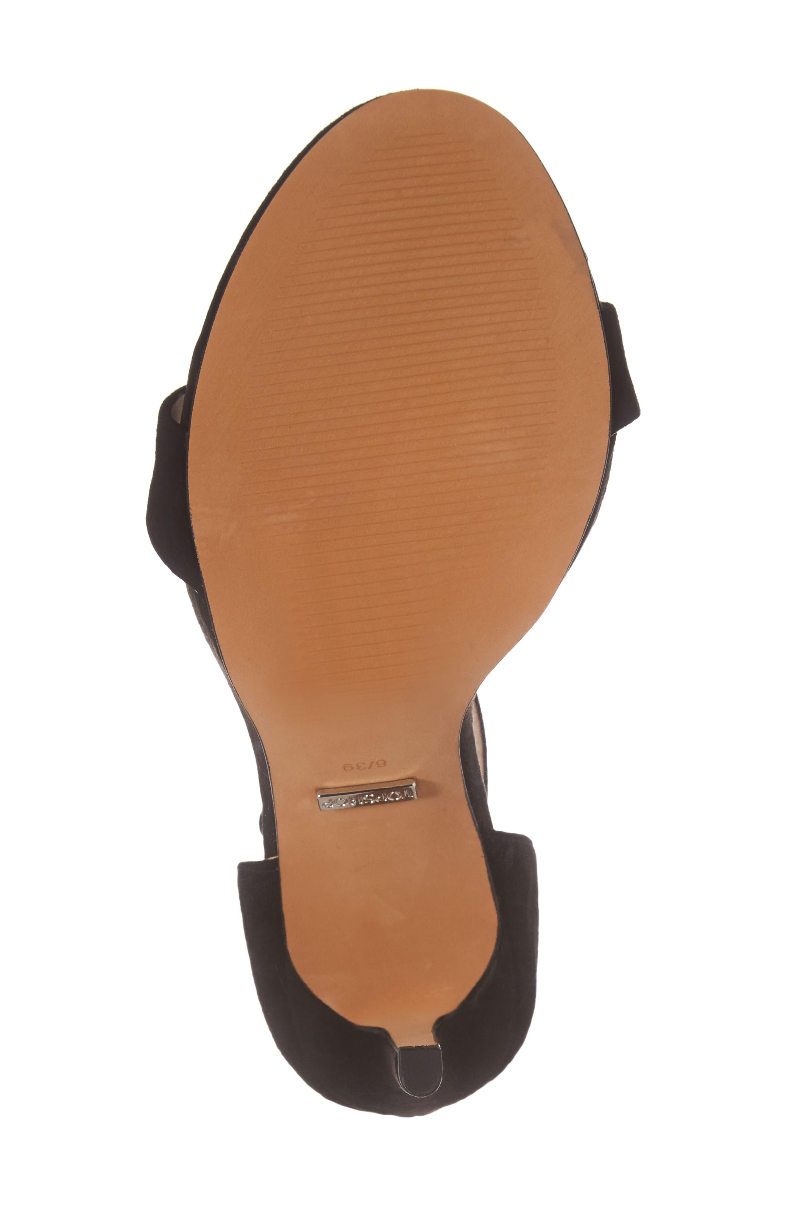 Raphie Ankle Strap Sandal,                             Alternate thumbnail 6, color,                             001