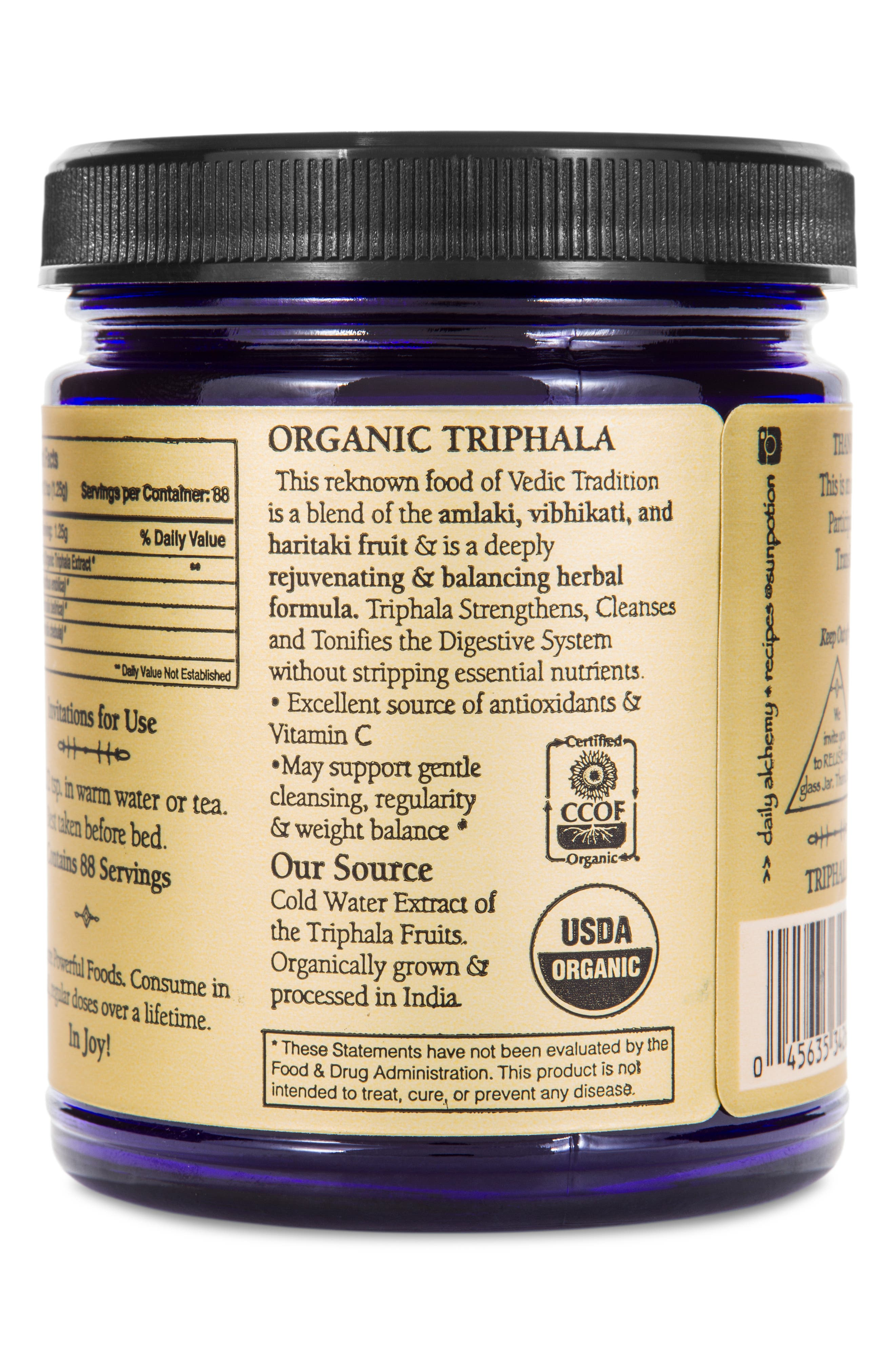 SUN POTION,                             Triphala Organic Cold Water Extract Powder Dietary Supplement,                             Alternate thumbnail 2, color,                             960