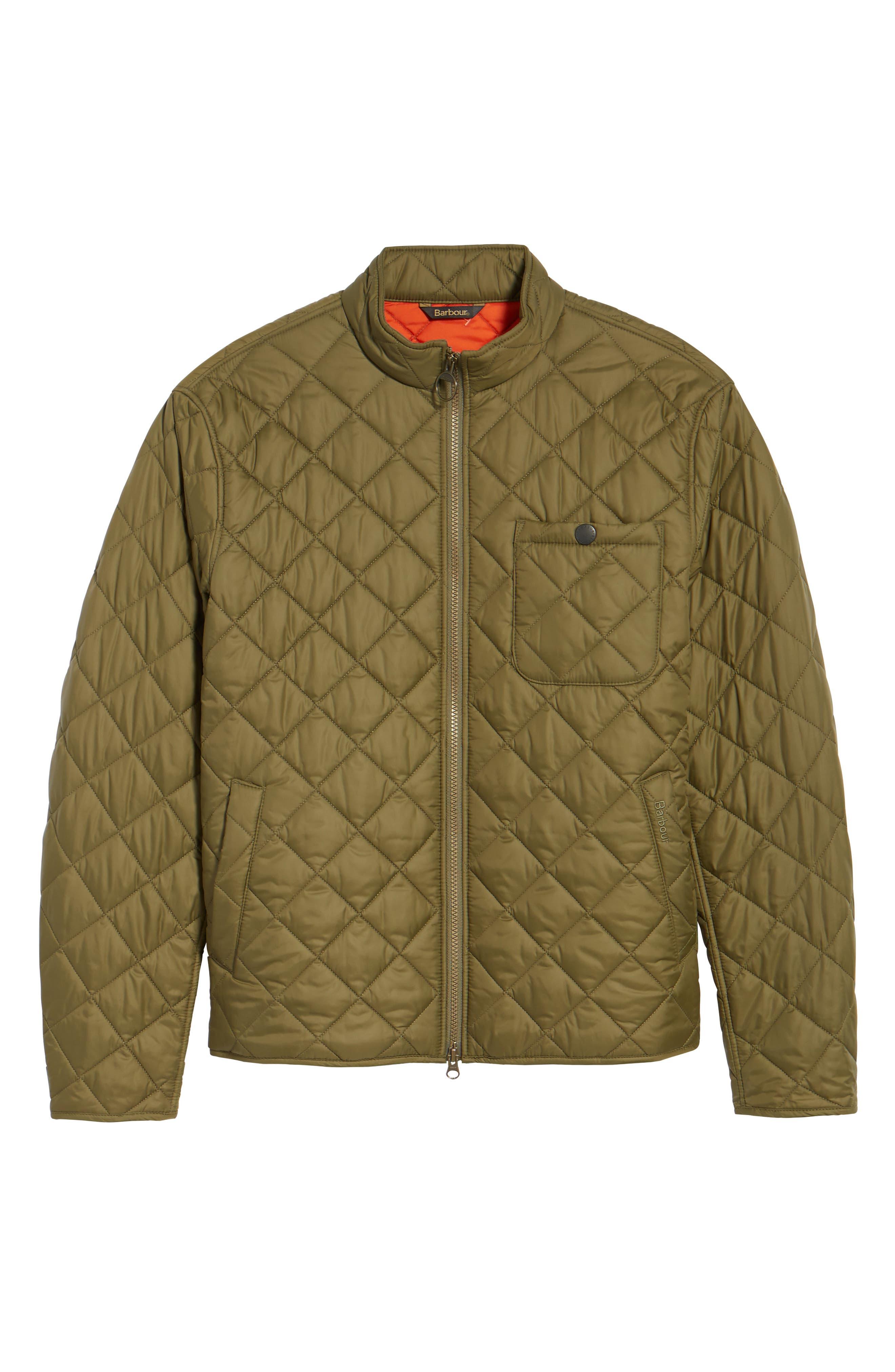 Pod Slim Fit Quilted Jacket,                             Alternate thumbnail 6, color,                             OLIVE