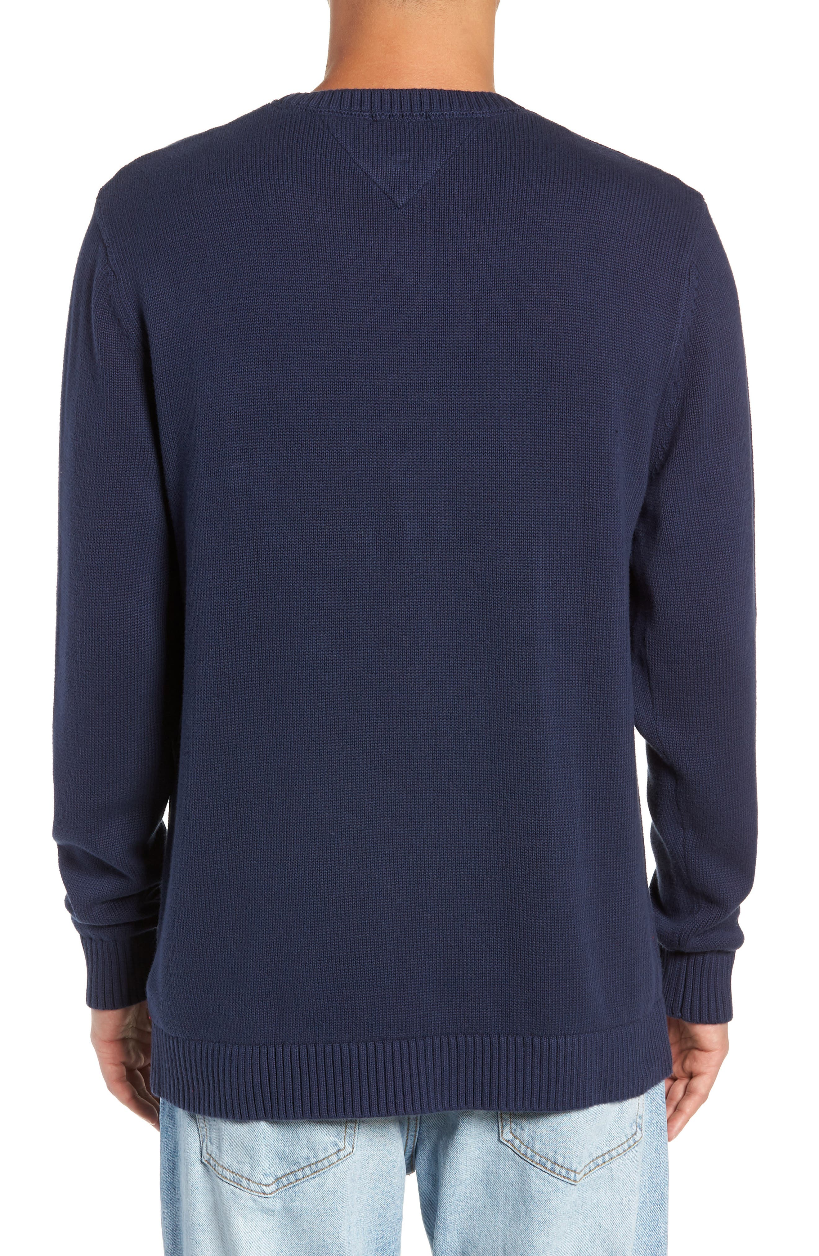 TJM Tommy Classics Sweater,                             Alternate thumbnail 2, color,                             BLACK IRIS