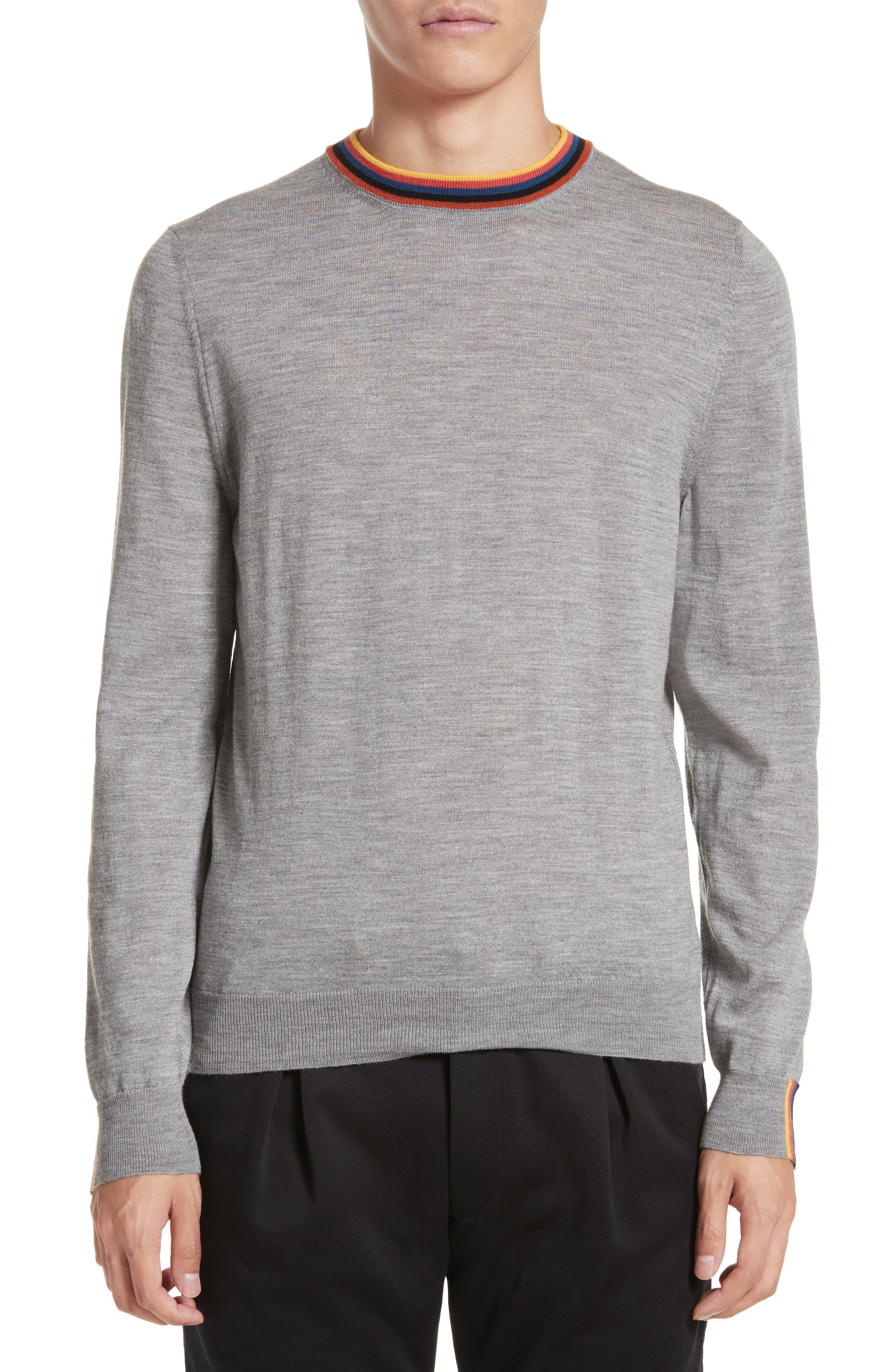 Artist Stripe Merino Wool Sweater,                         Main,                         color, 020