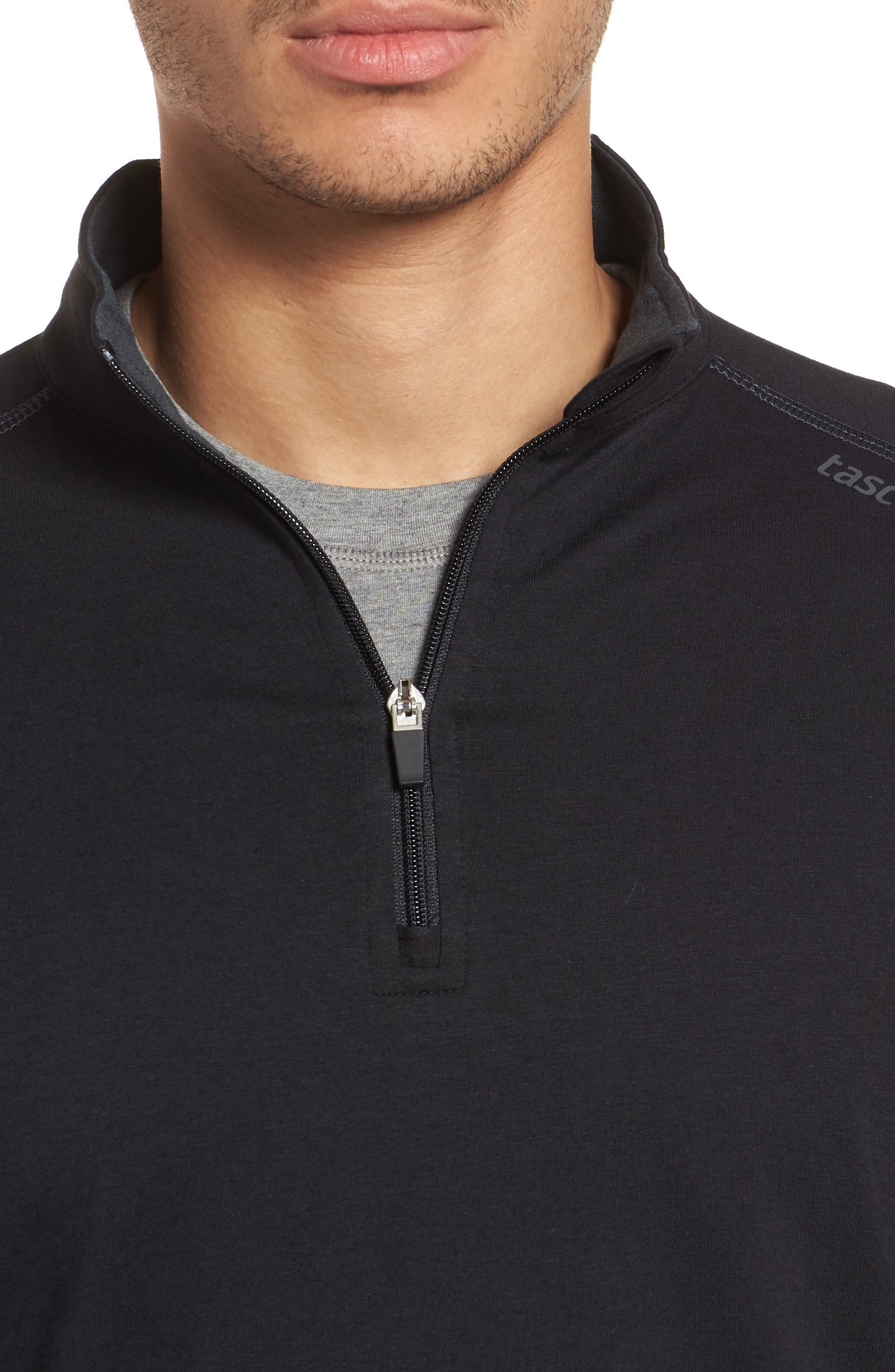Carrollton Quarter Zip Sweatshirt,                             Alternate thumbnail 4, color,                             BLACK/ GUNMETAL