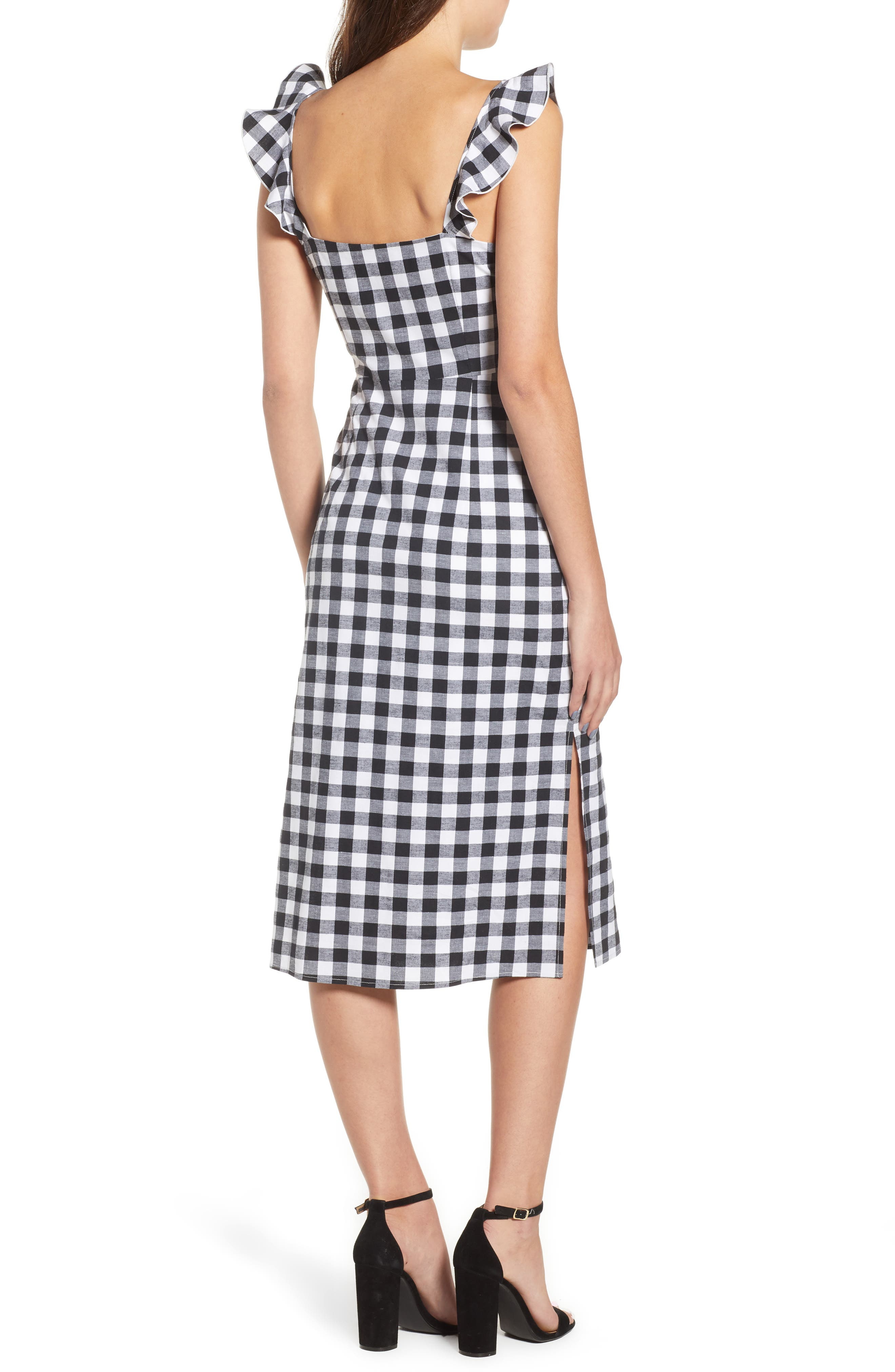 Verona Cutout Midi Dress,                             Alternate thumbnail 2, color,                             001