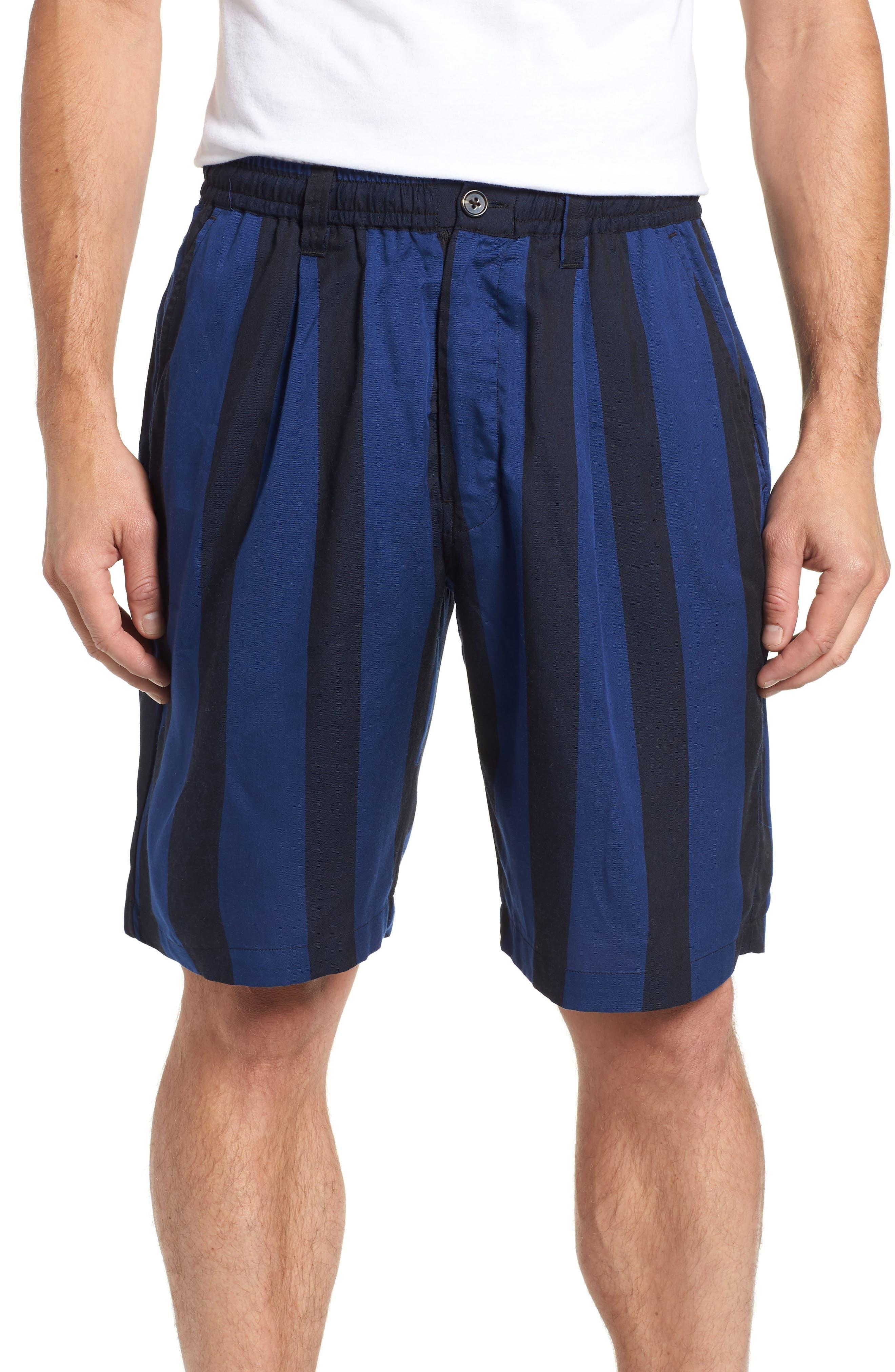 Keigo Broad Stripe Shorts,                         Main,                         color, COBALT