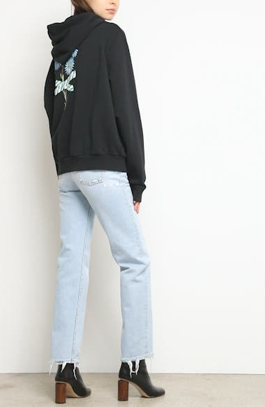 Alternate Video 10  - Off-White Distressed Straight Leg Jeans (Bleach/White)
