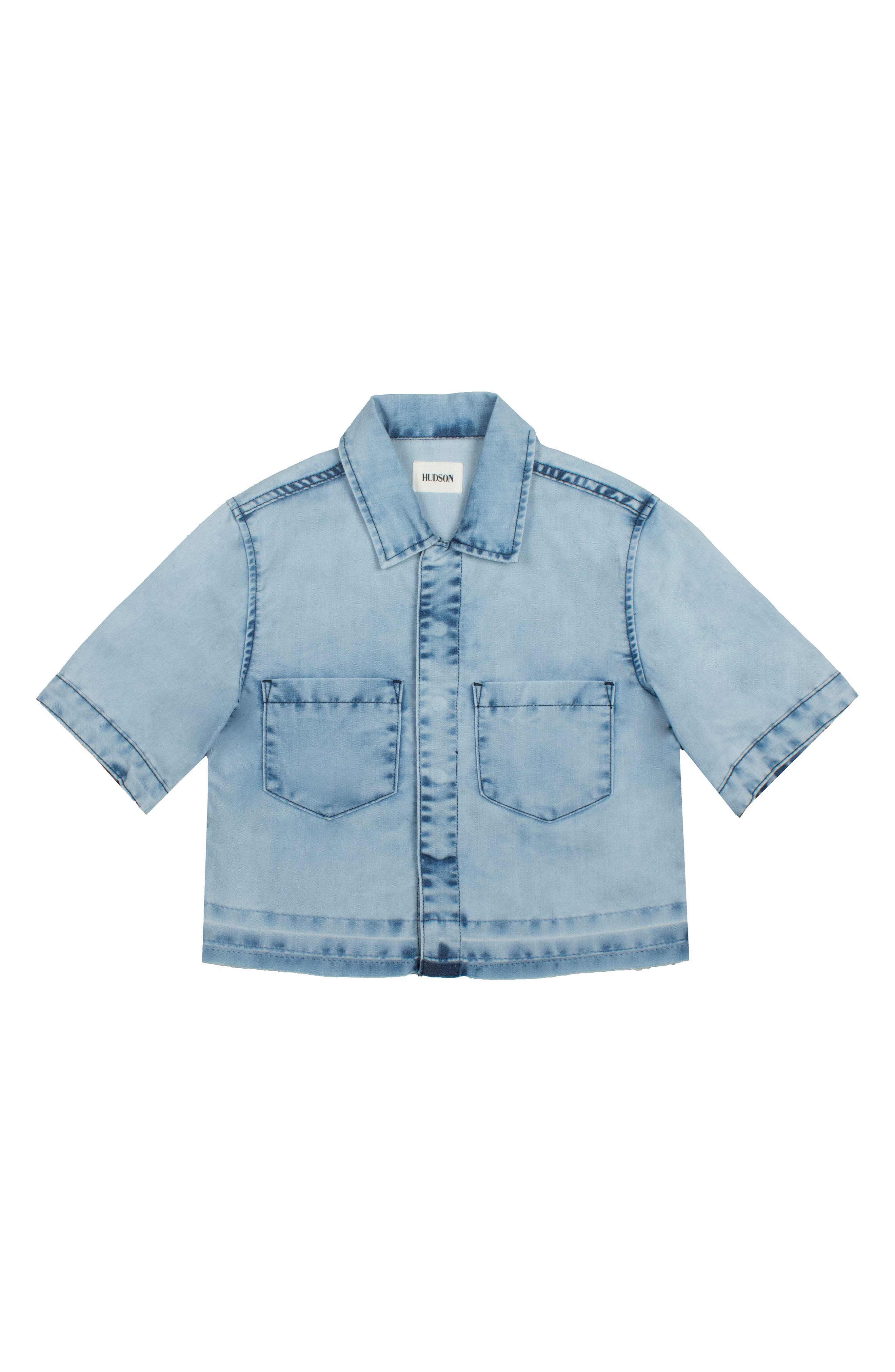 Addie Chambray Shirt,                             Main thumbnail 1, color,                             CRINKLE BLUE