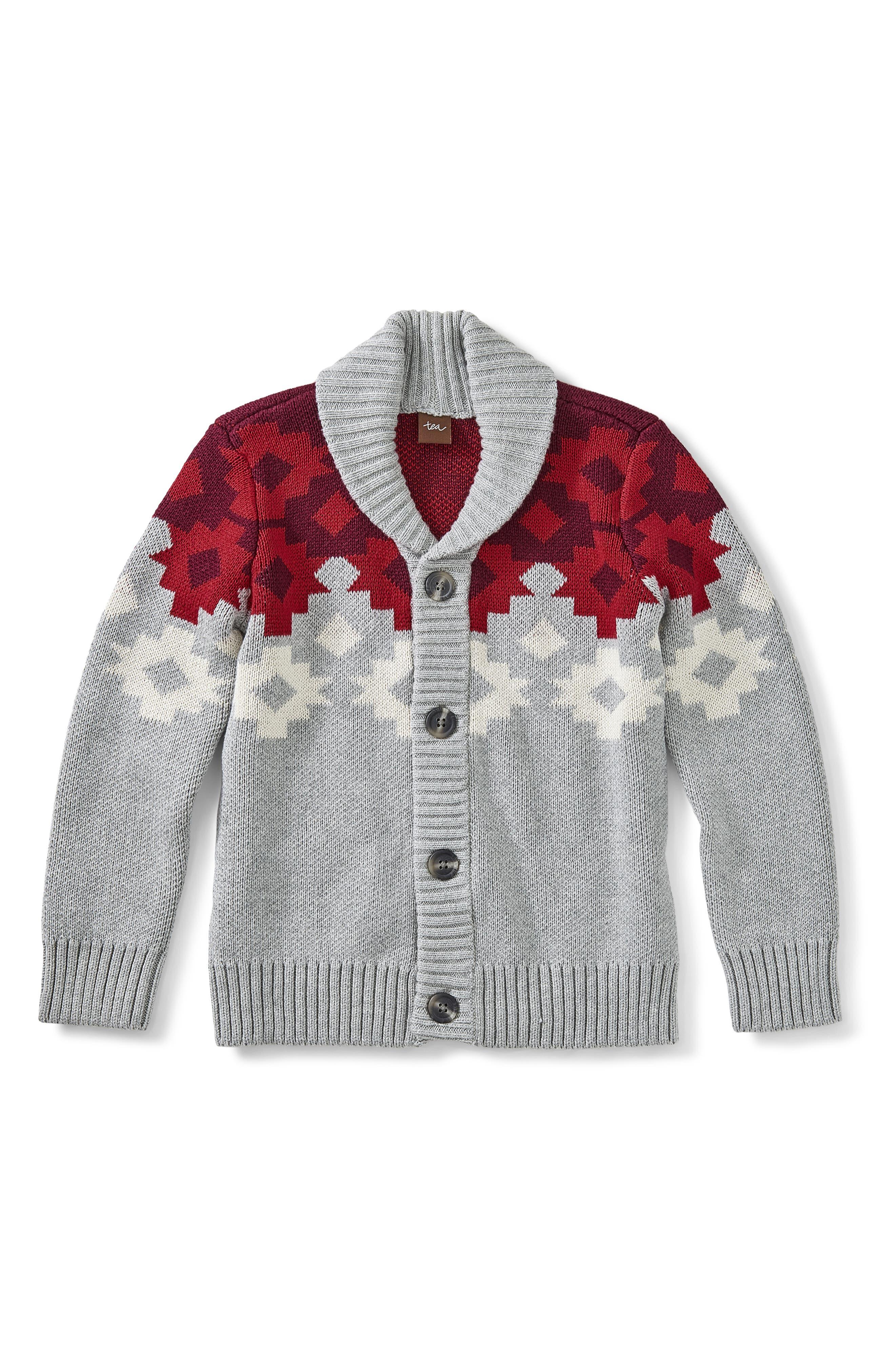Toddler Boys Tea Collection Ganado Geo Cardigan Size XS (23T)  Grey