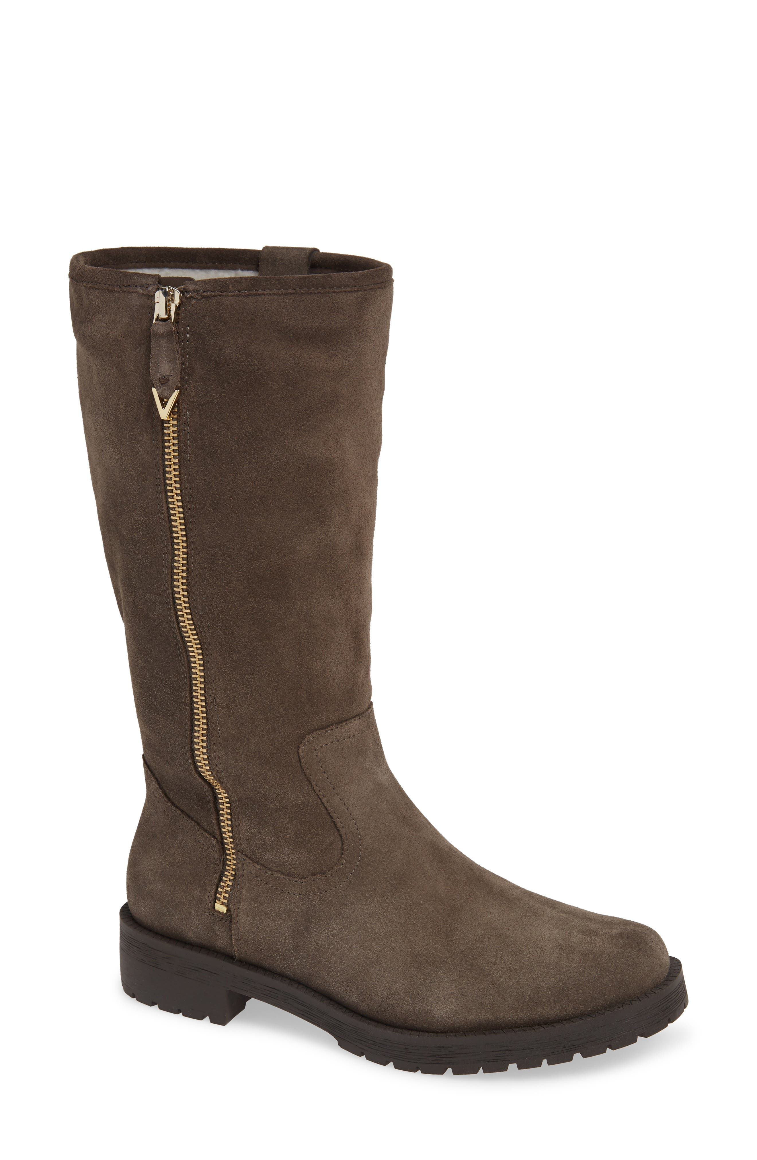 Mica Boot,                             Main thumbnail 1, color,                             GREIGE SUEDE