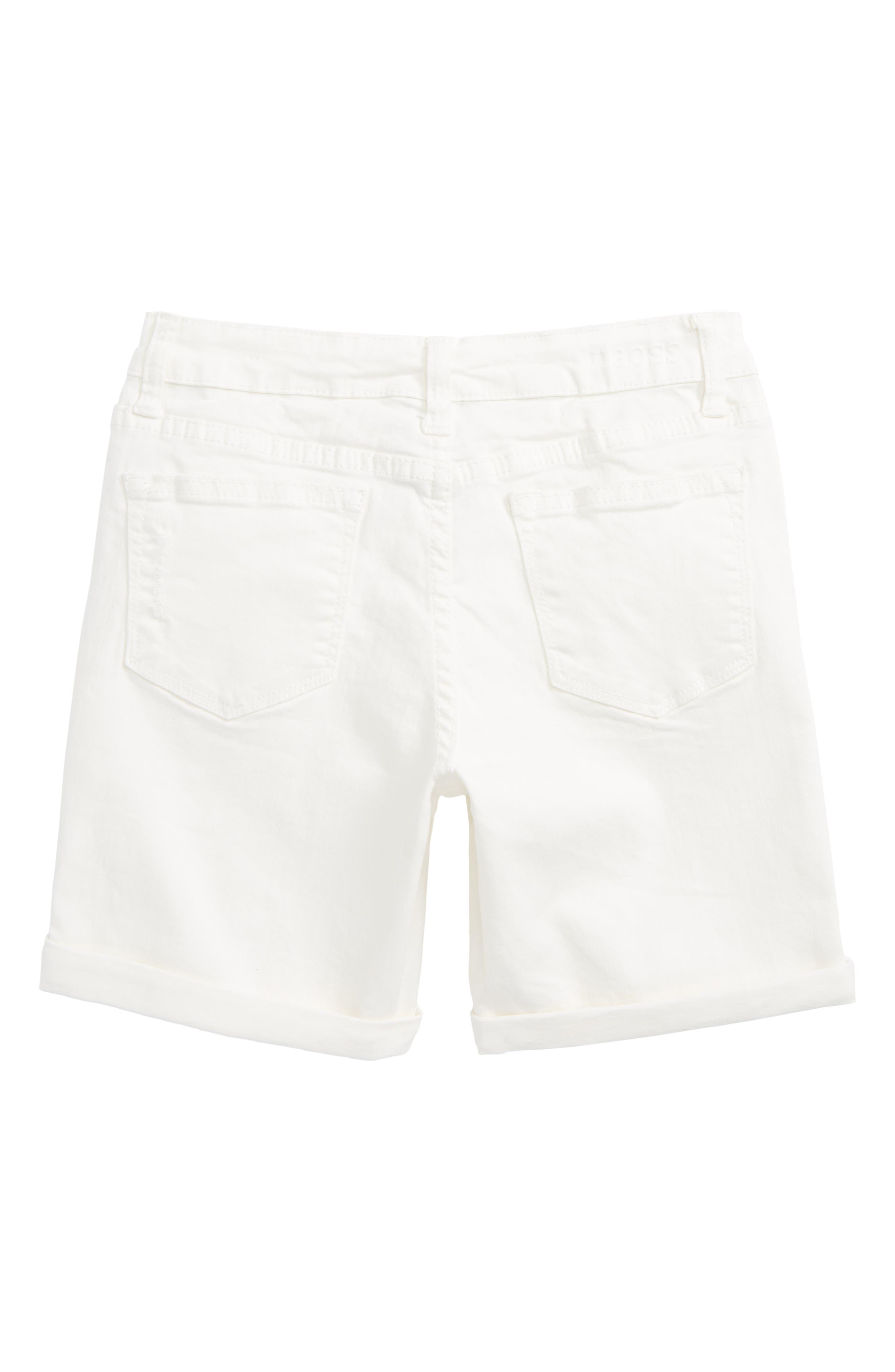 Distressed Bermuda Shorts,                             Alternate thumbnail 2, color,                             100