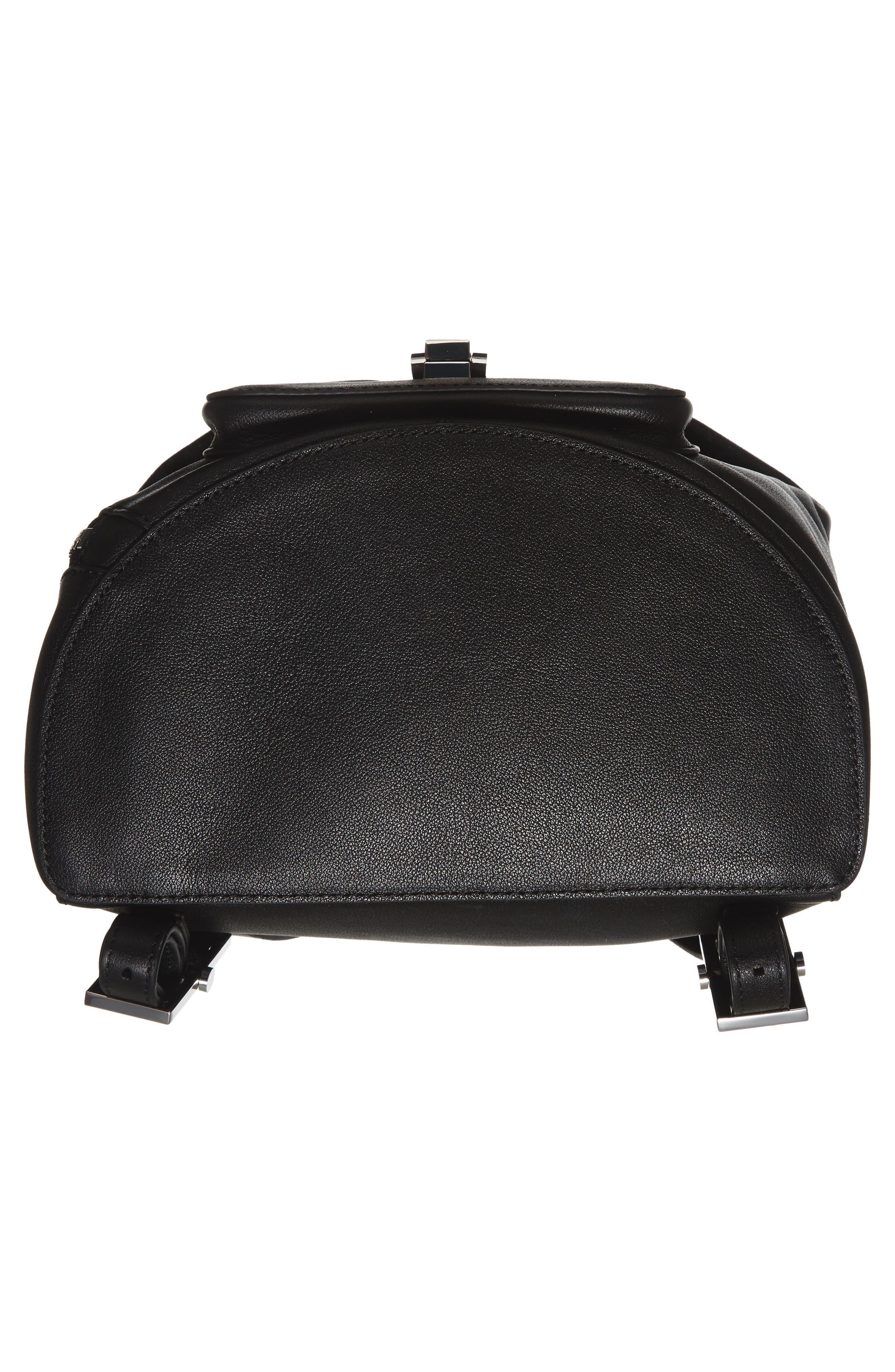 Koenji Leather Backpack,                             Alternate thumbnail 6, color,                             001