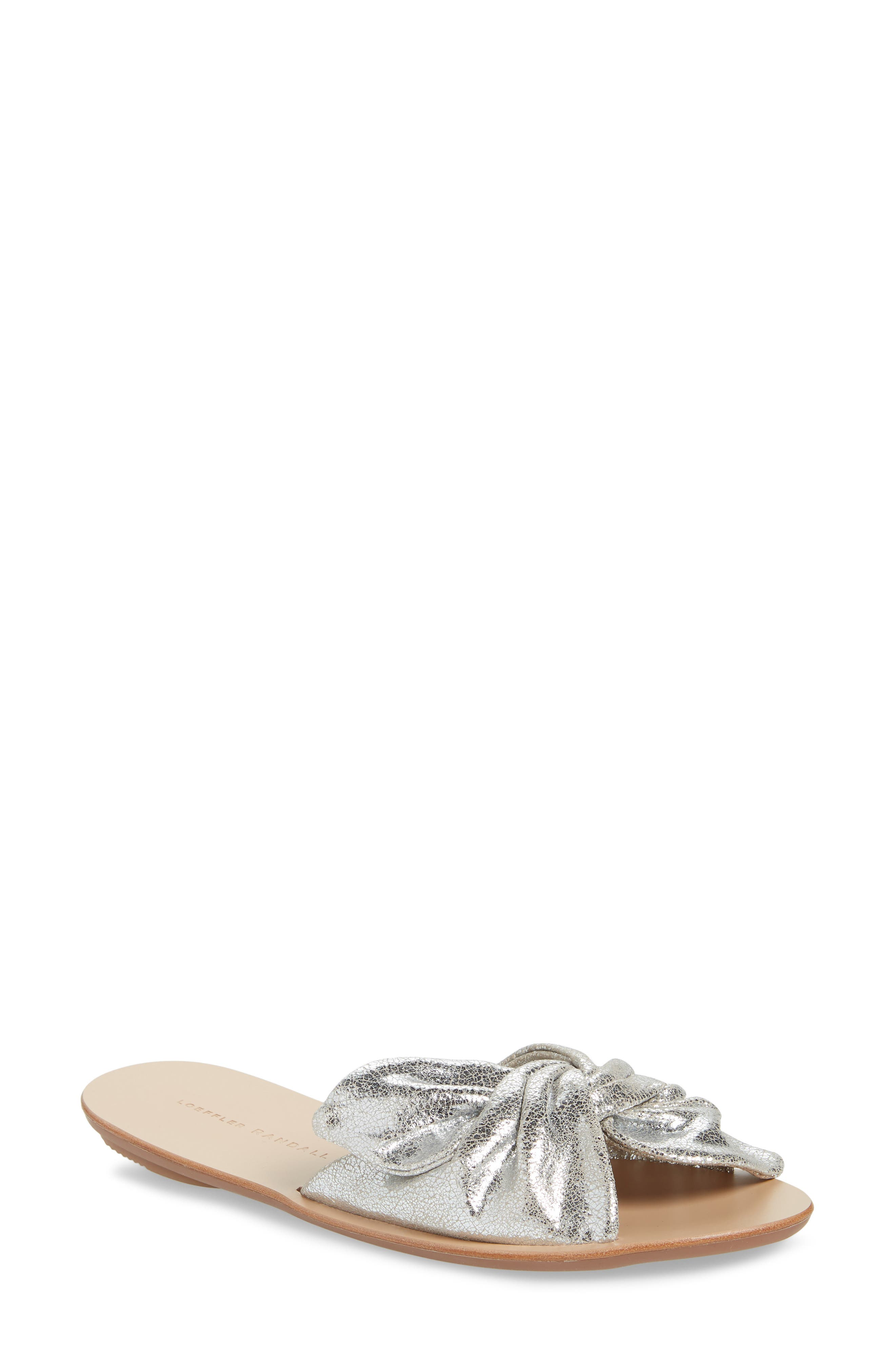 Phoebe Knotted Sandal, Main, color, SILVER