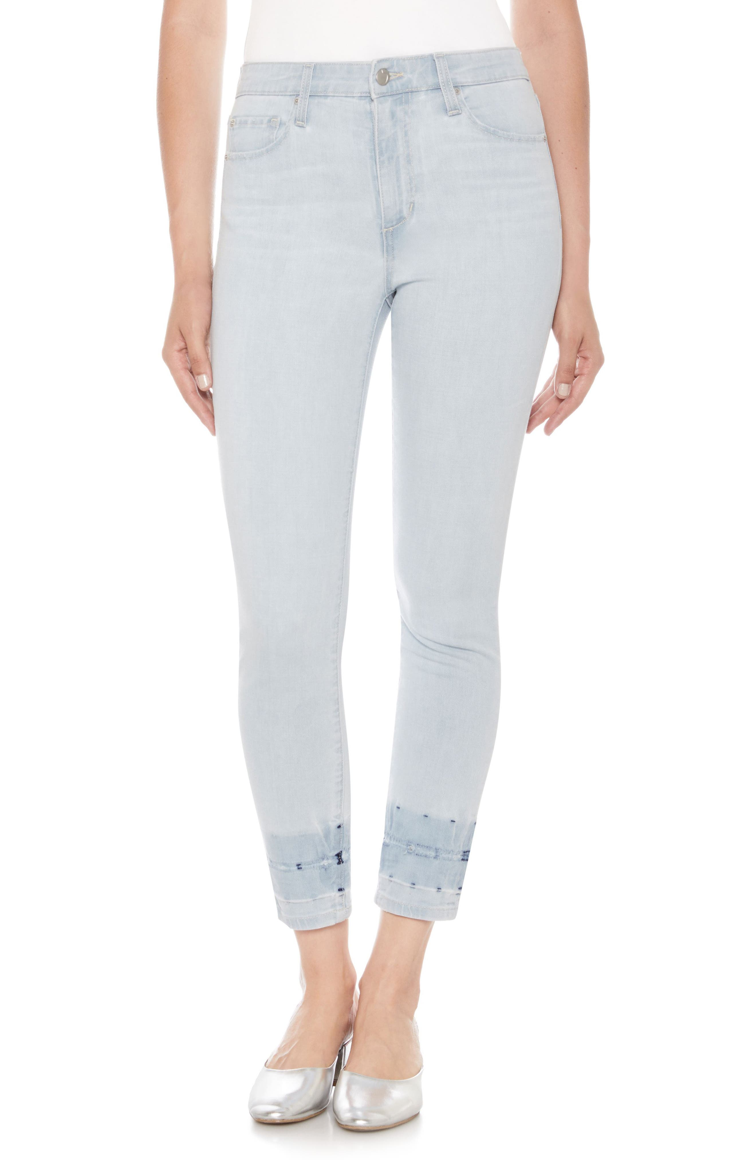 The Charlie High Waist Crop Skinny Jeans,                             Main thumbnail 1, color,