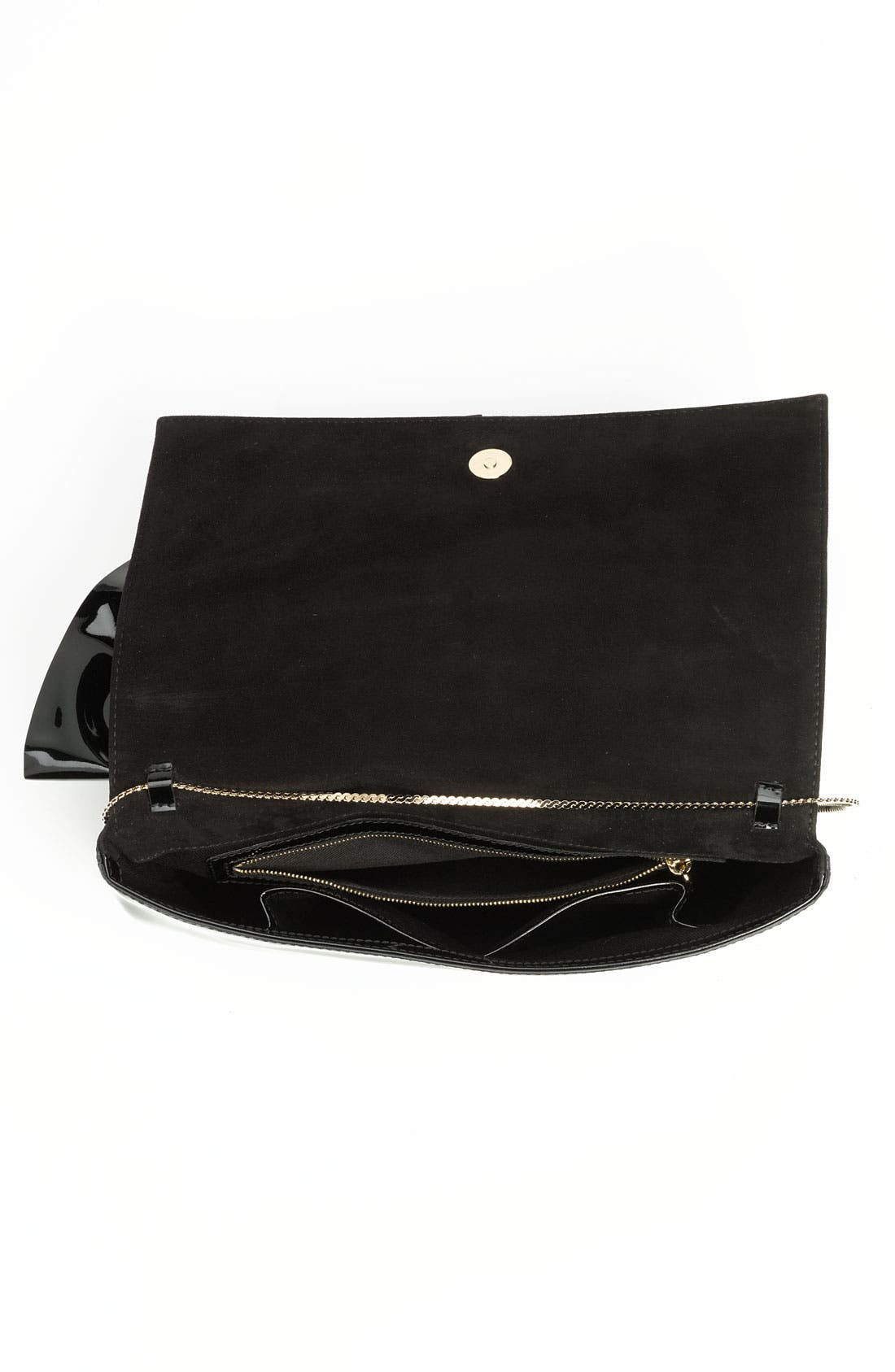'Lacca Bow' Clutch,                             Alternate thumbnail 4, color,                             001