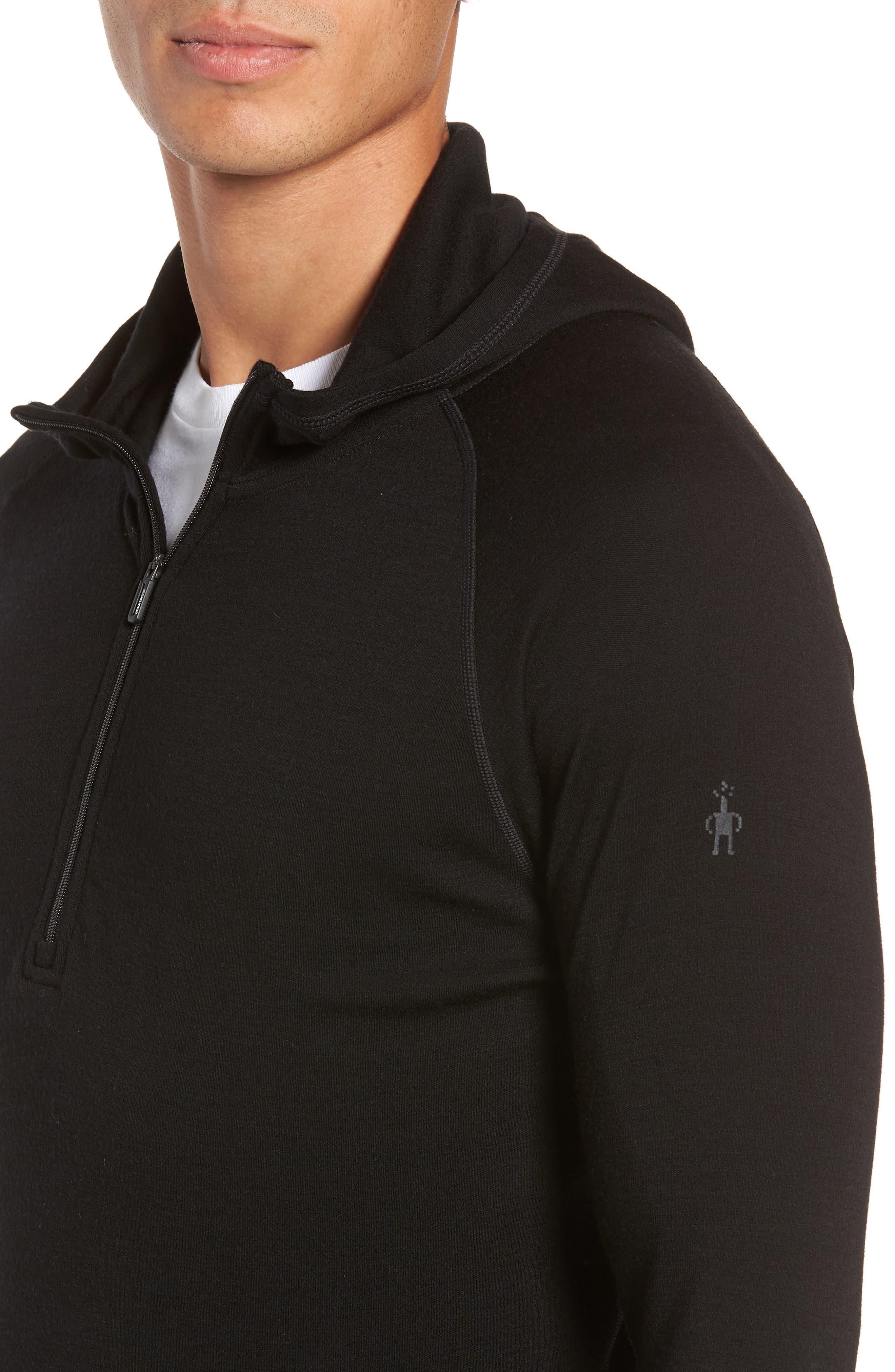 Merino 250 Base Layer Hooded Pullover,                             Alternate thumbnail 4, color,                             001