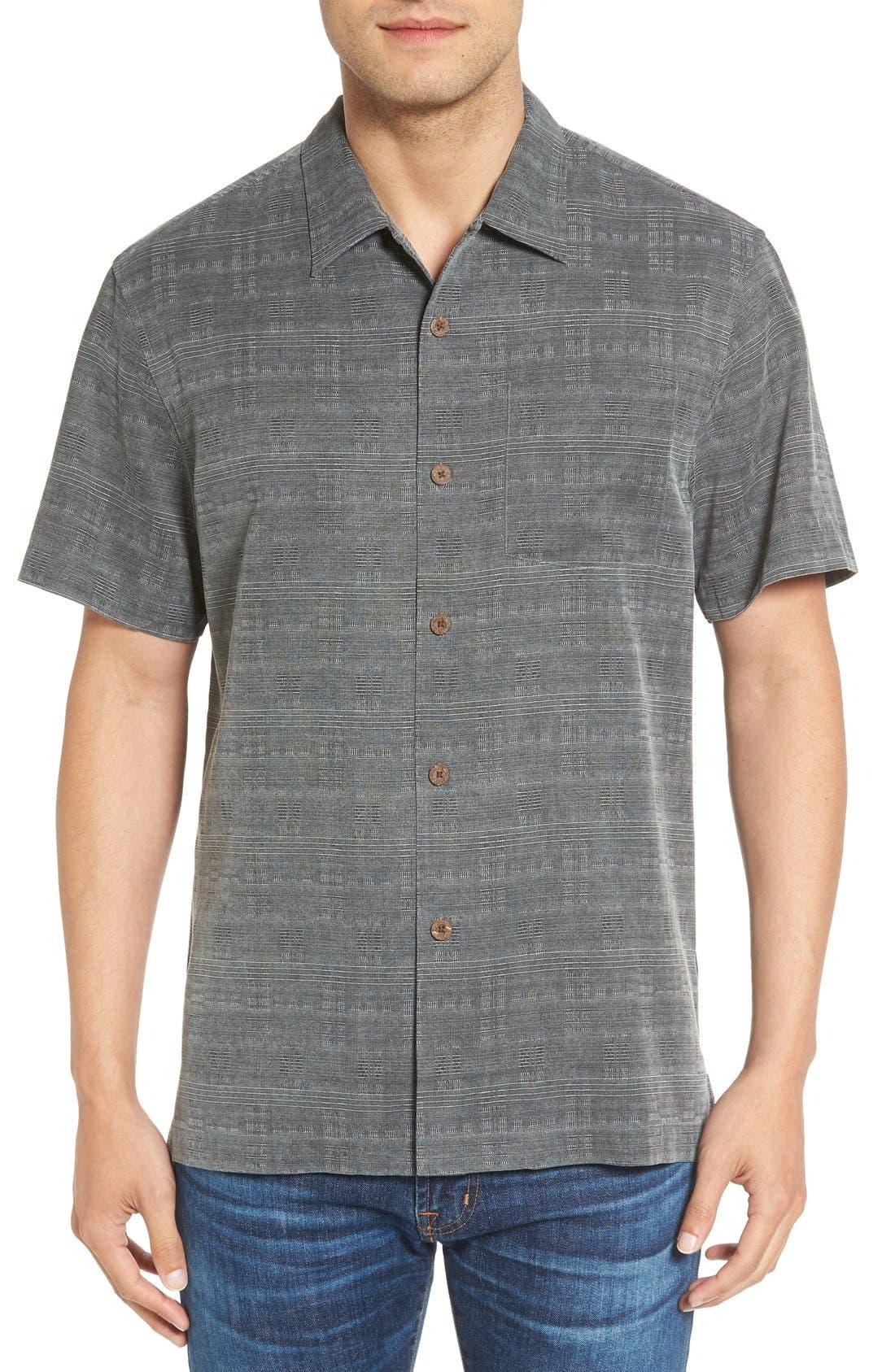 'Geo-Rific Jacquard' Original Fit Silk Camp Shirt,                             Main thumbnail 2, color,