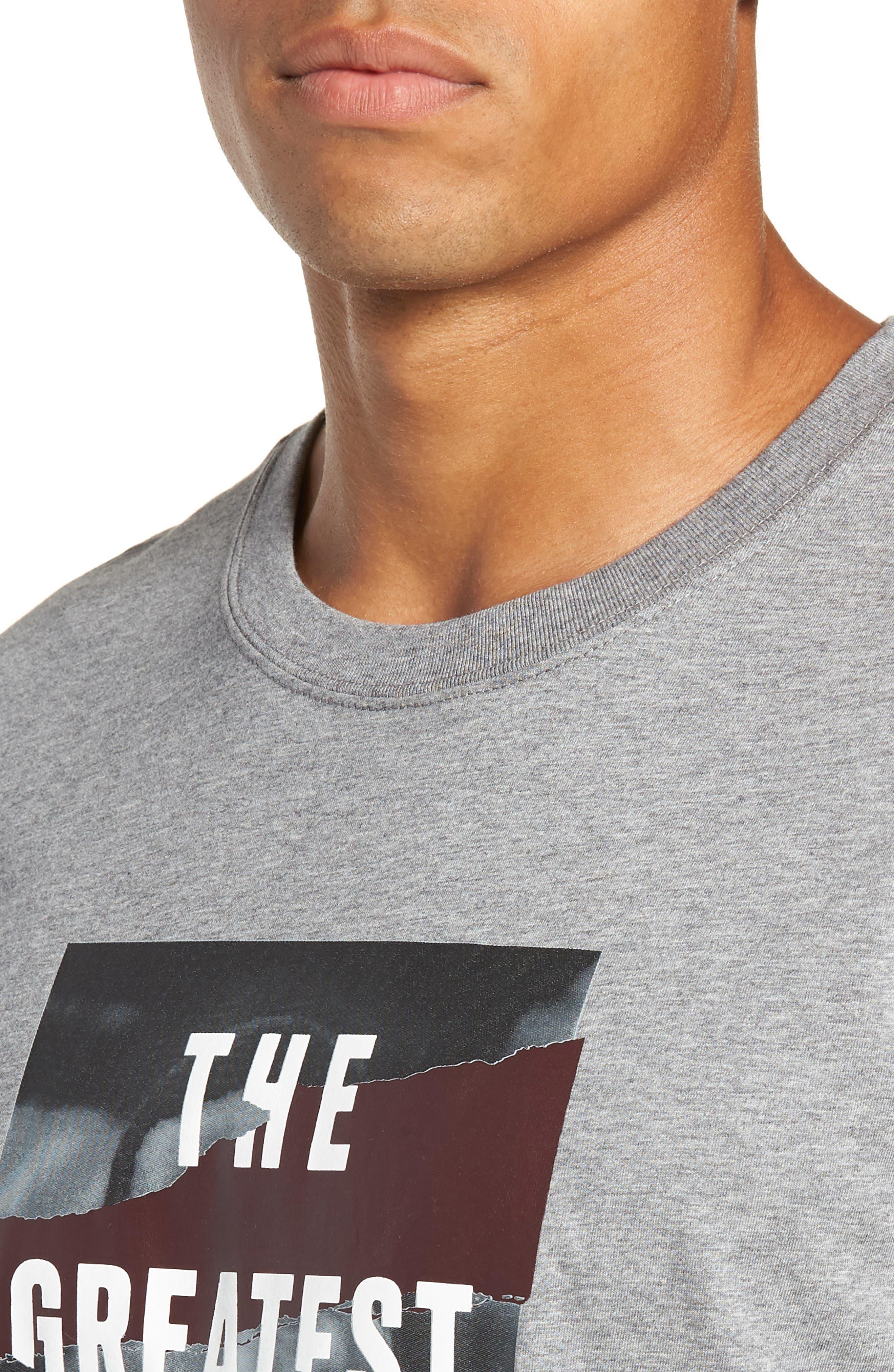 Longline T-Shirt,                             Alternate thumbnail 4, color,                             GREY
