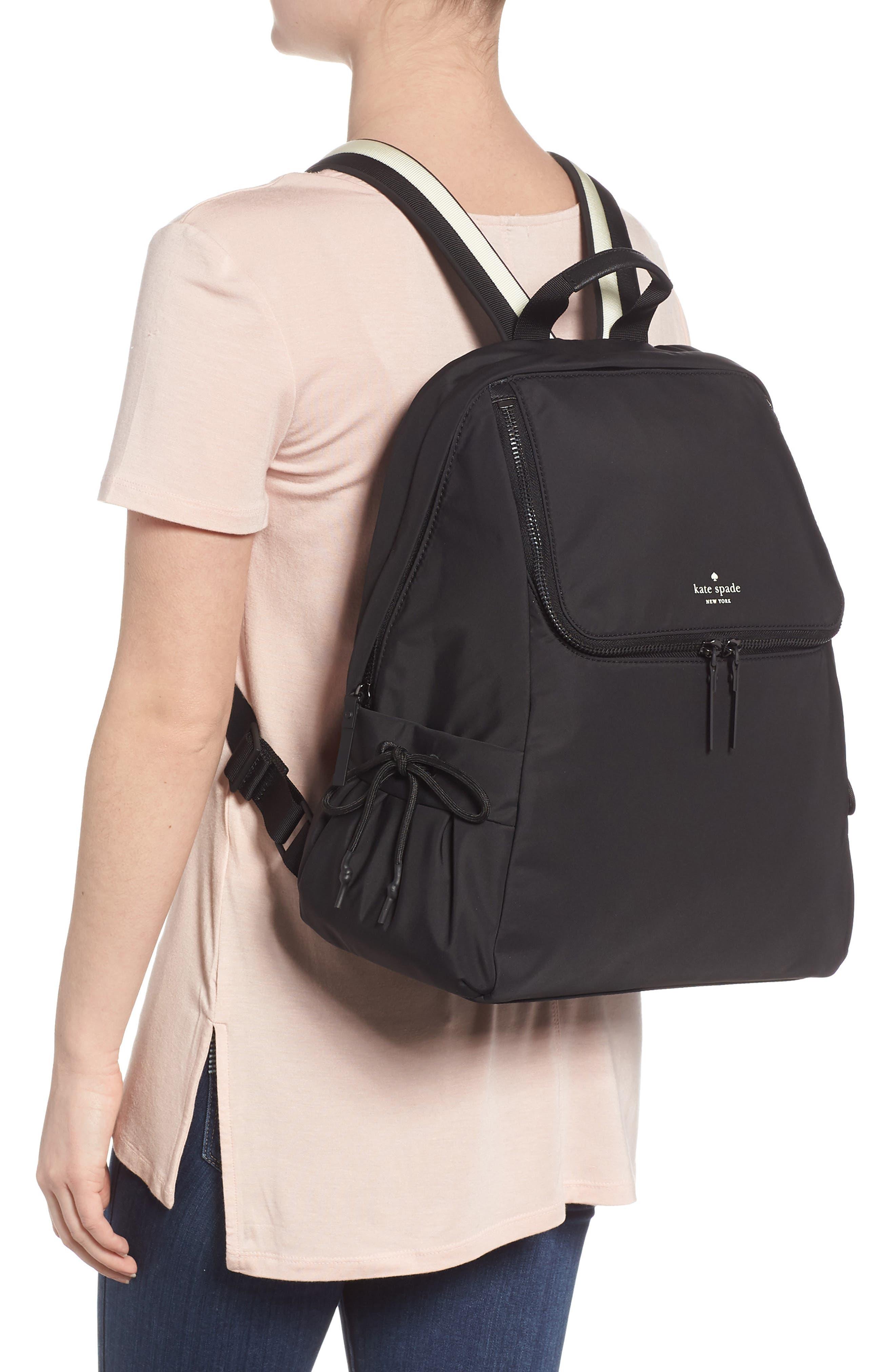 that's the spirit nylon backpack,                             Alternate thumbnail 2, color,                             BLACK