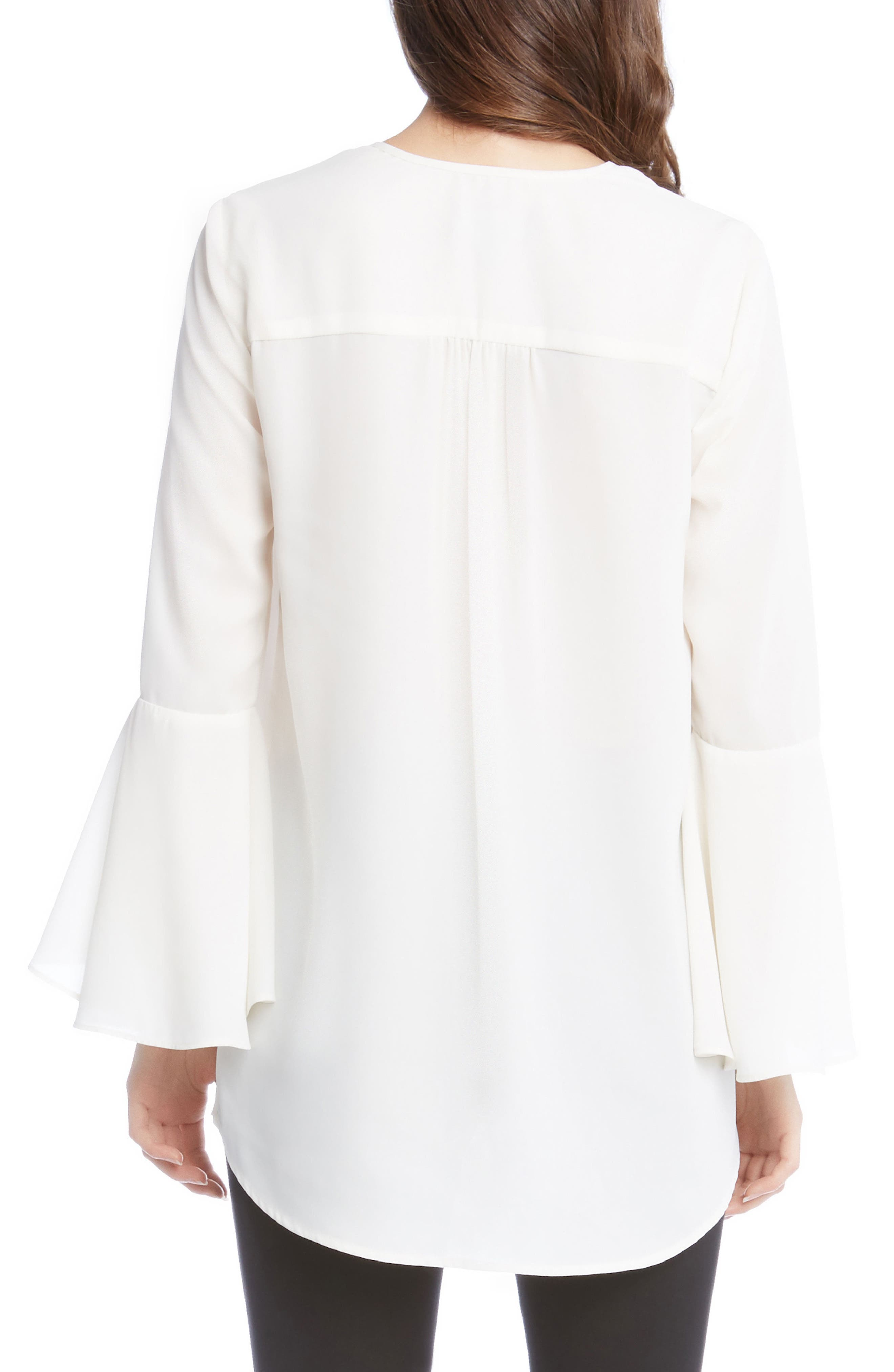Slit Sleeve High/Low Top,                             Alternate thumbnail 7, color,