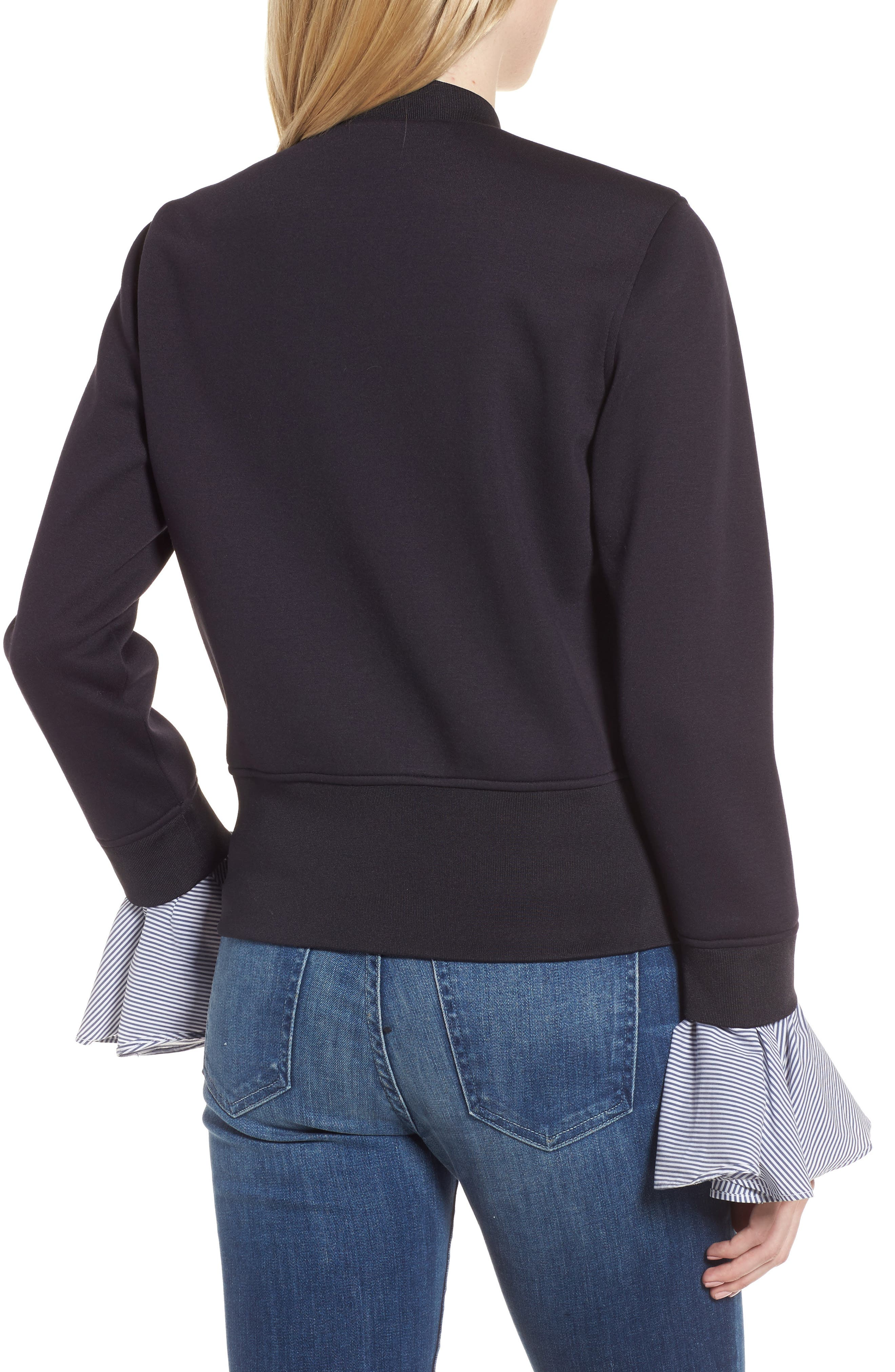 Ruffle Sleeve Jacket,                             Alternate thumbnail 2, color,                             410